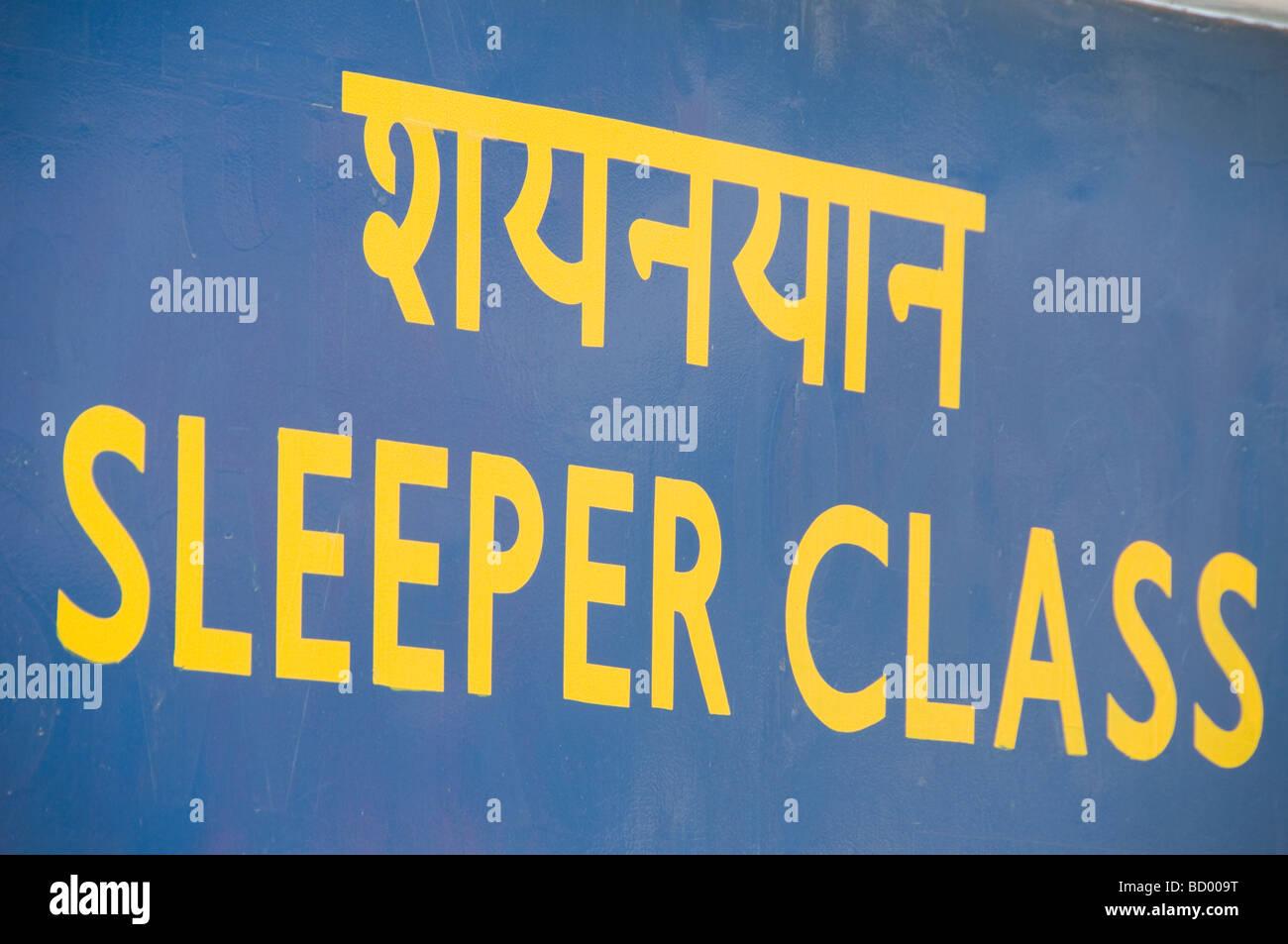 Classe Cuccetta in India Immagini Stock