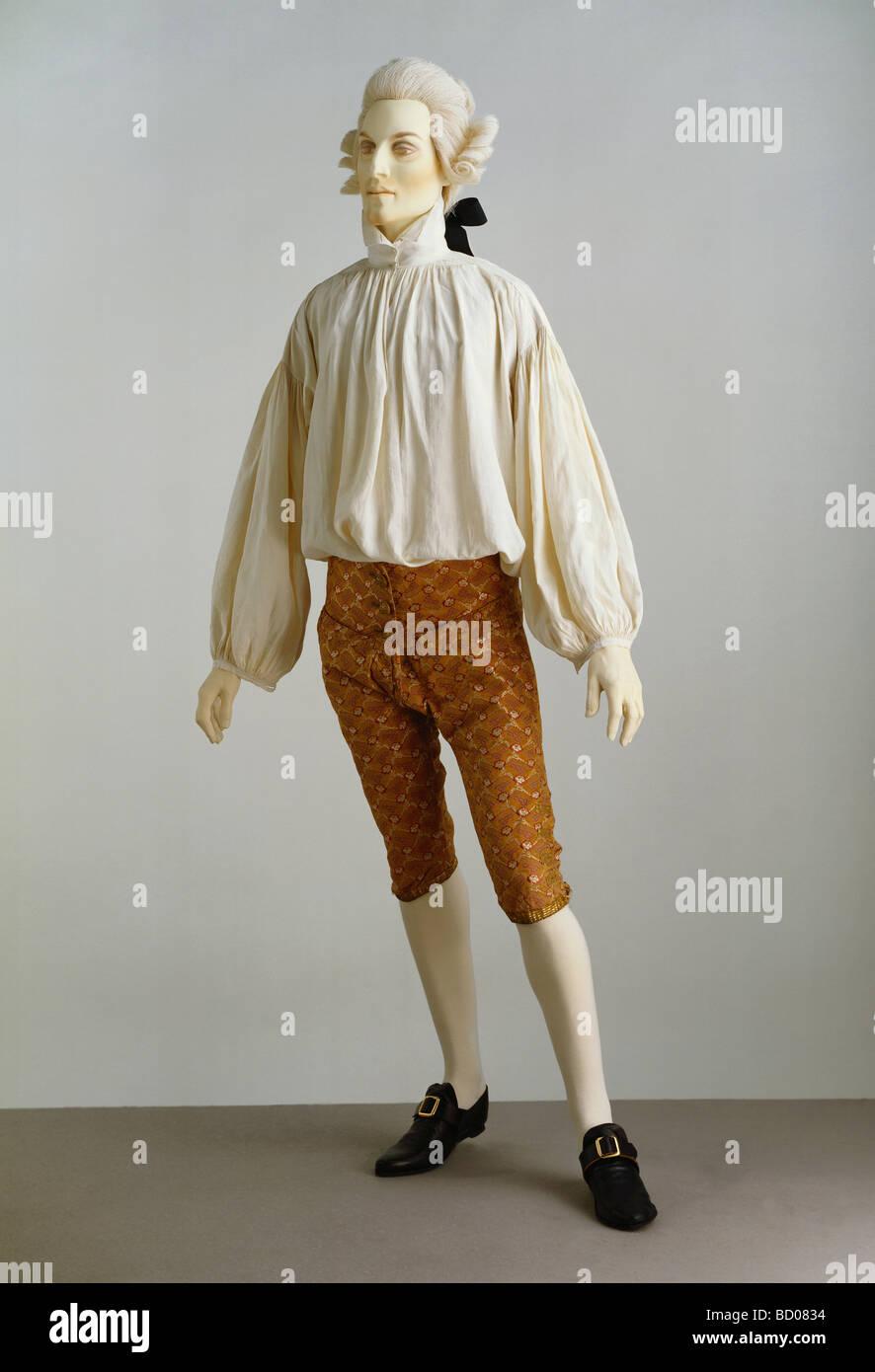 Maglietta e pantaloni. Francia, metà del XVIII secolo Immagini Stock