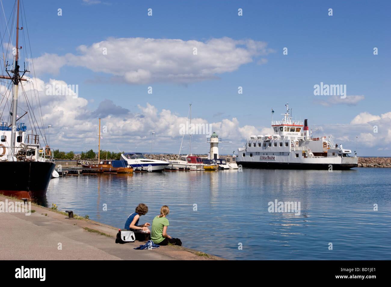 Porto di Gränna Foto Stock