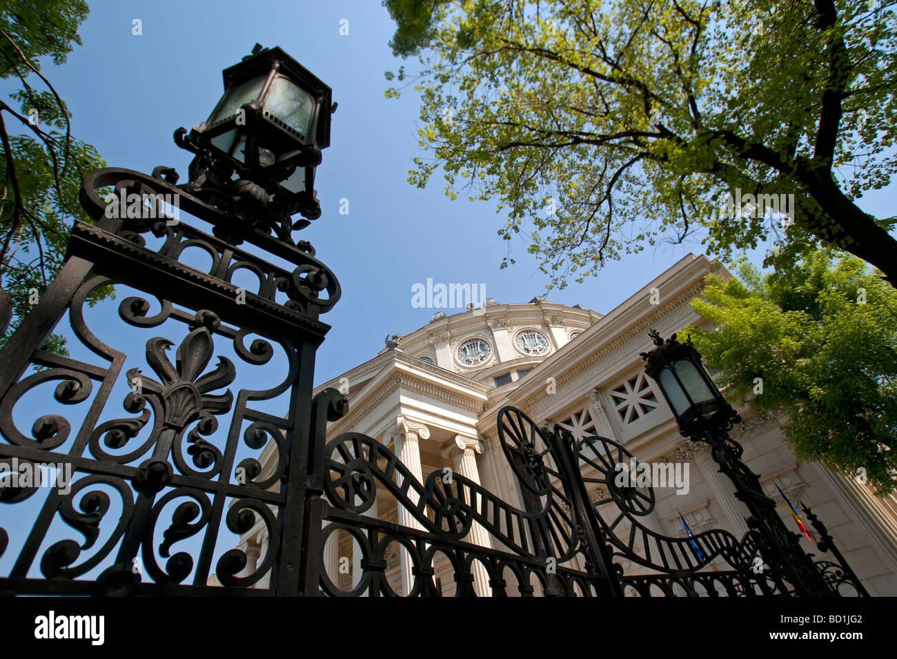 Bucarest Romanian Athenaeum Concert Hall in stile neoclassico Immagini Stock