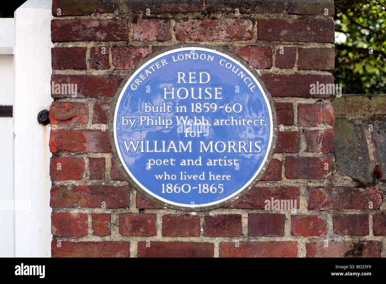 La Casa Rossa, Bexleyheath, Londra, Regno Unito. Una proprietà del National Trust progettato dall architetto Immagini Stock