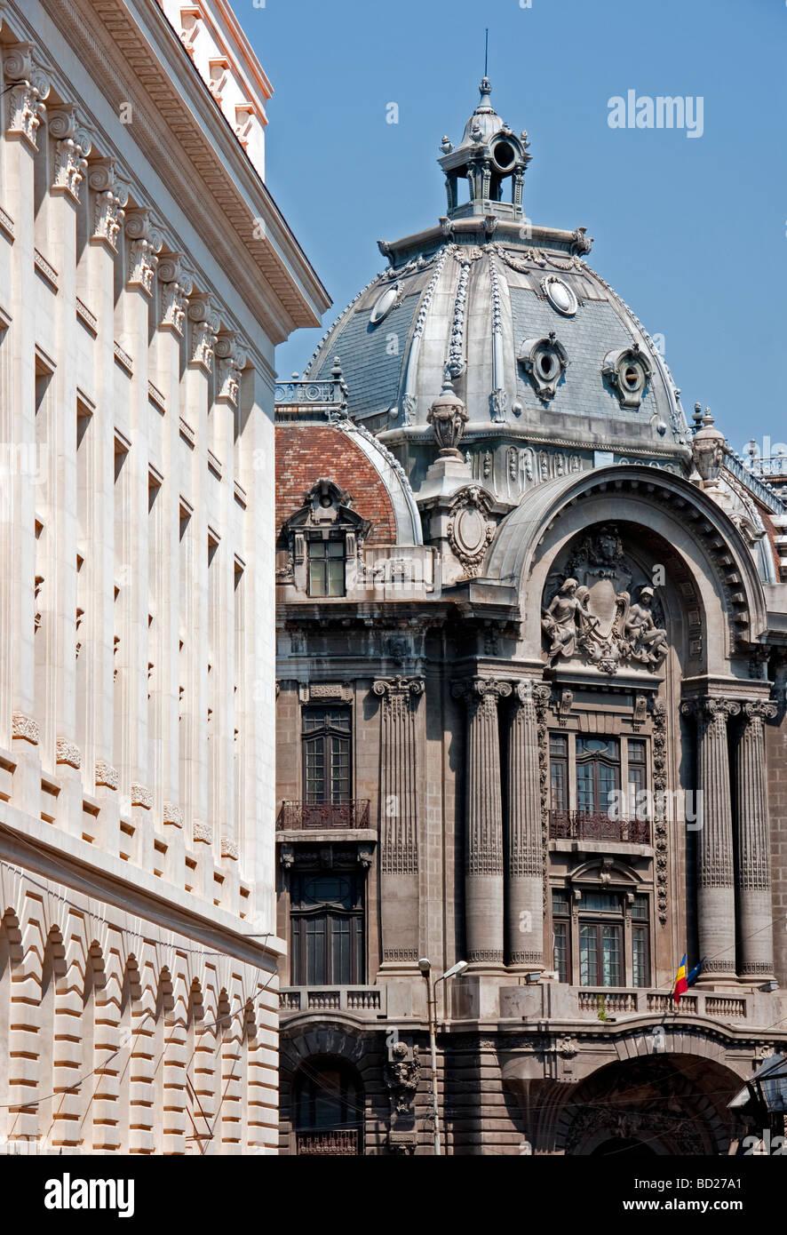 Il centro di architettura di Bucarest Immagini Stock