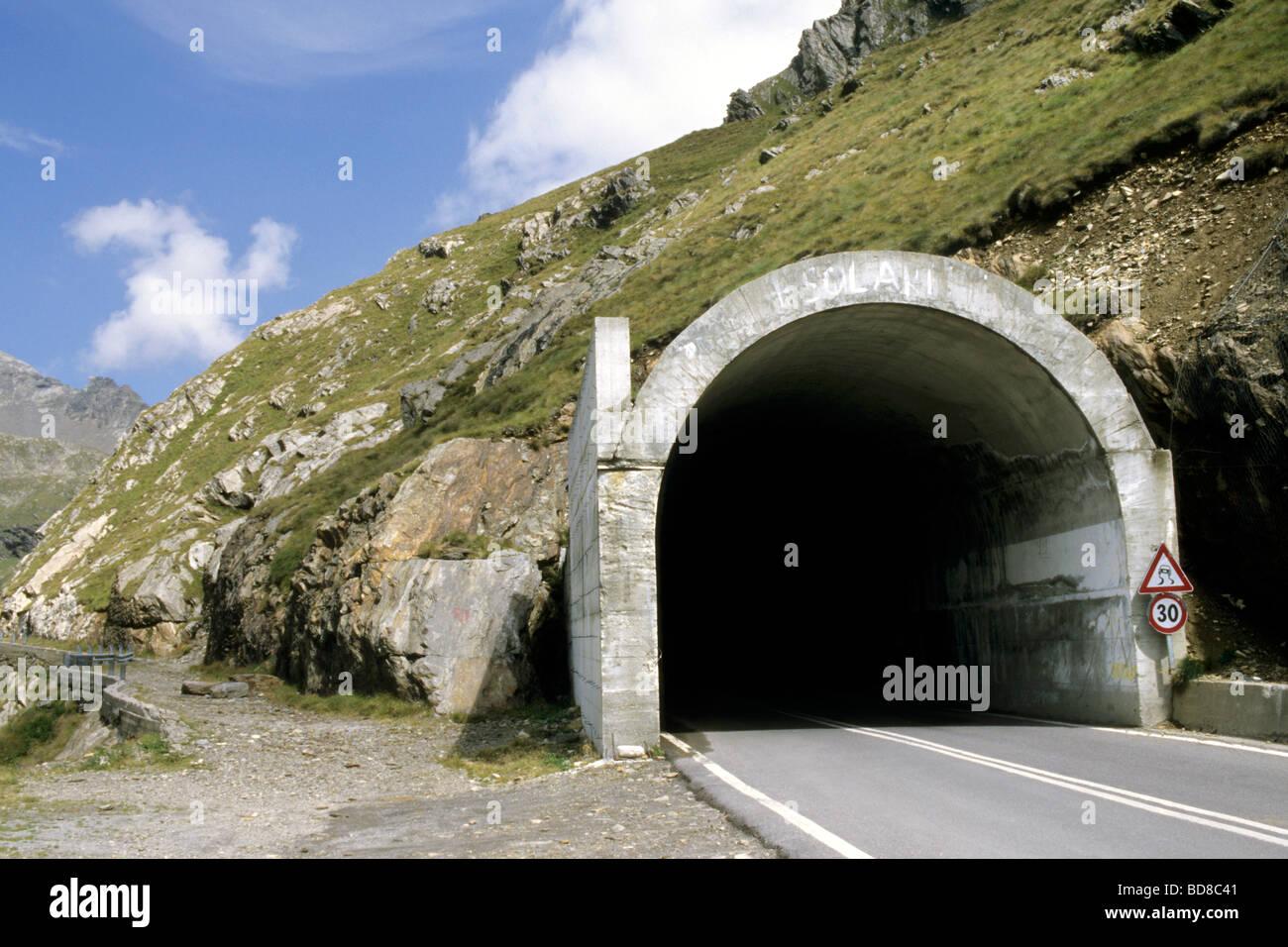 Passo Gavia Foto Stock
