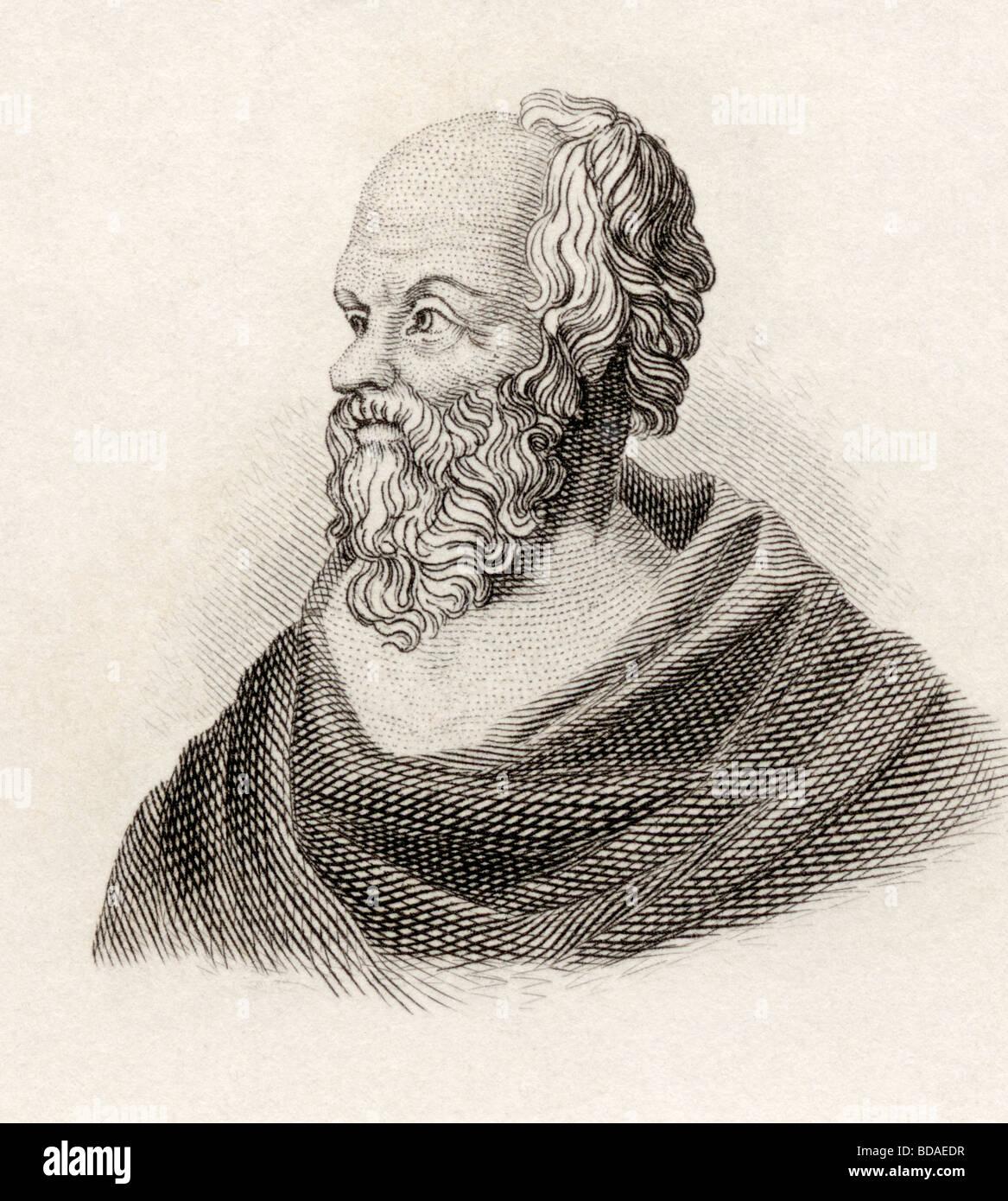Sócrates, c.469 BC - 399 BC. Greco classico filosofo. Immagini Stock