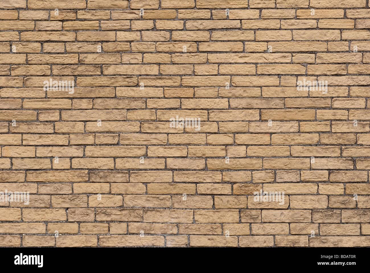 Nuovi mattoni in un muro di mattoni Immagini Stock
