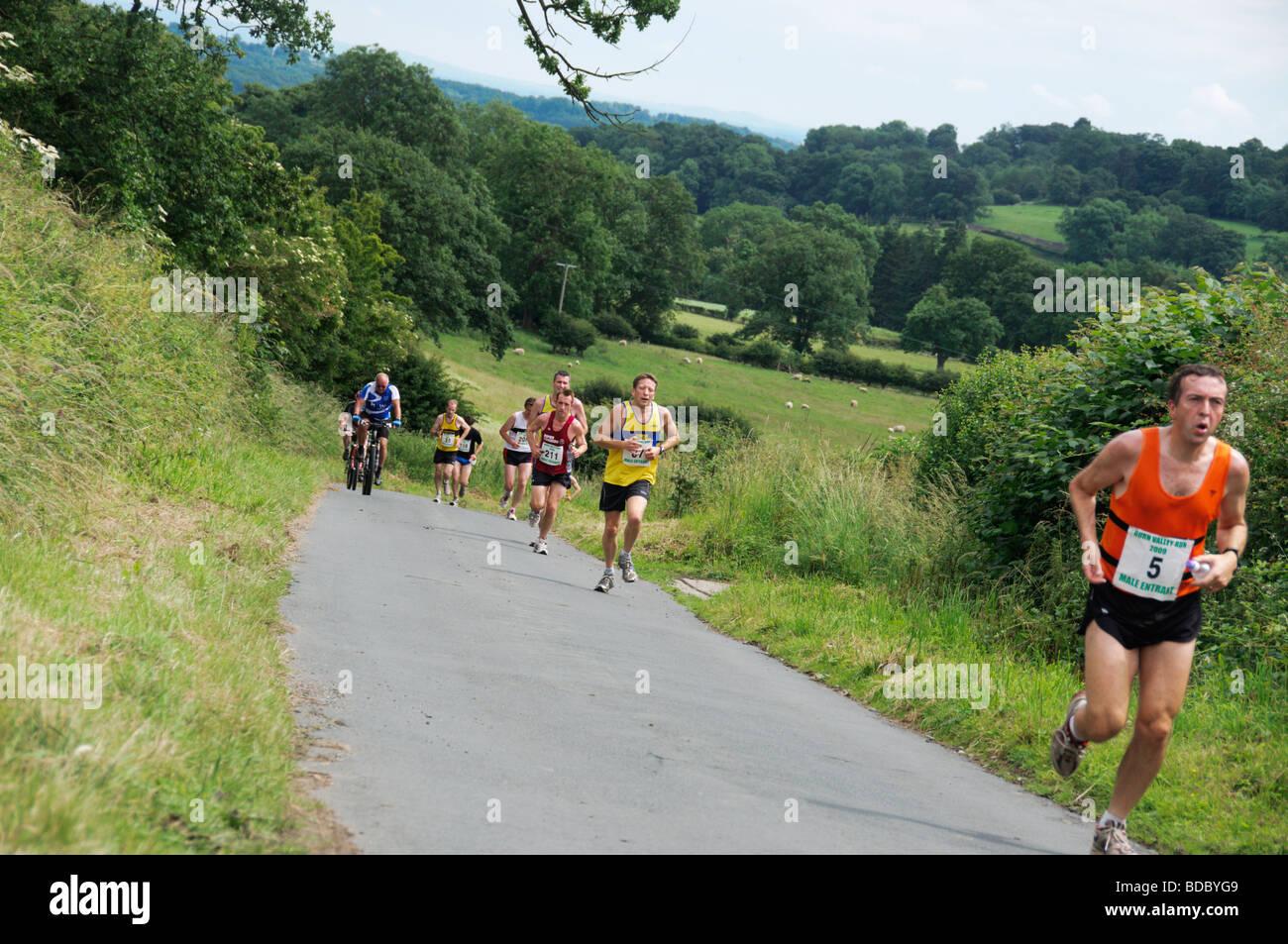 Fotografare il Masham Burne Valley Run 2009 Immagini Stock