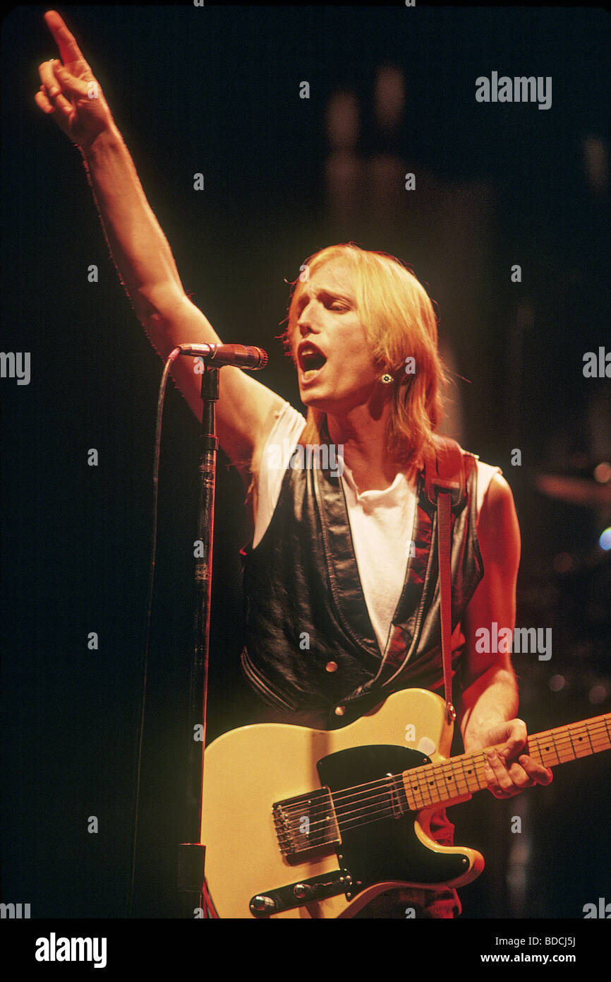 TOM PETTY - noi musicista rock circa 1989 Immagini Stock