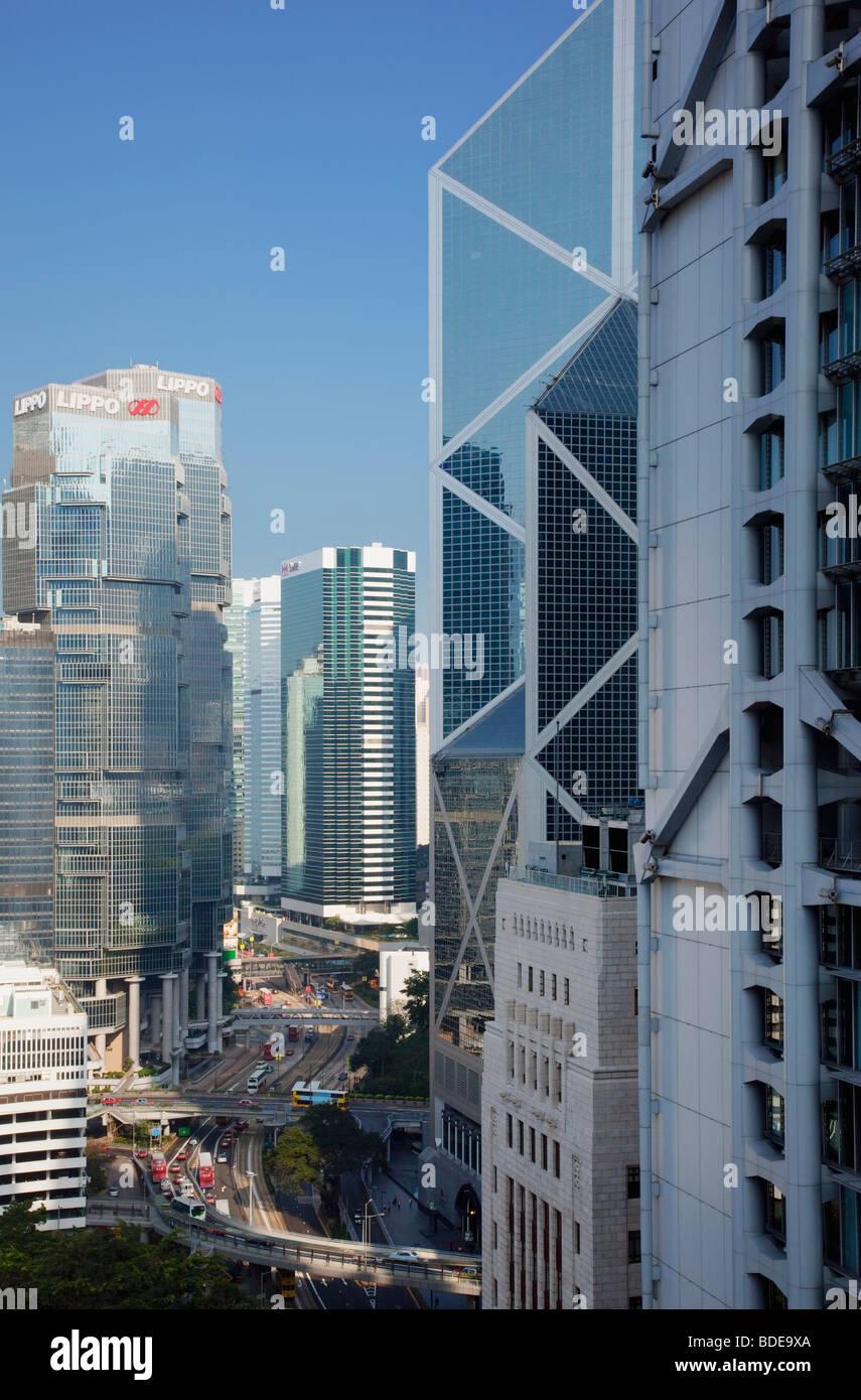 Edifici alti in Chung Wan, Hong Kong, Cina. Immagini Stock