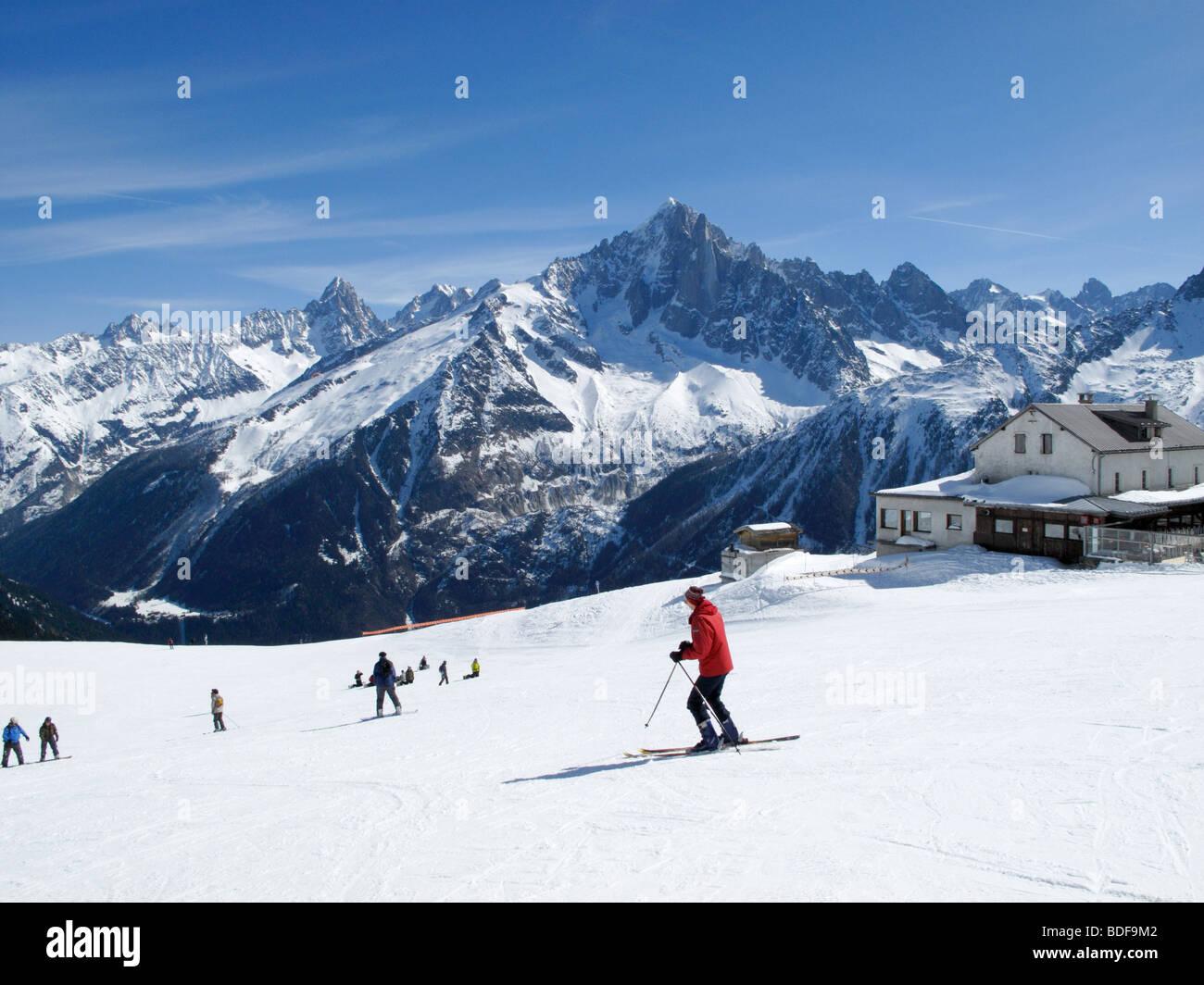 Brevent sciatore Immagini Stock