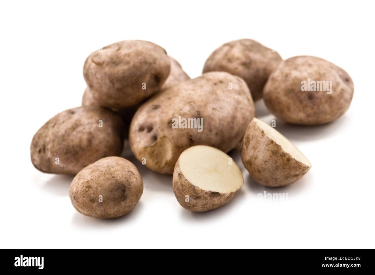 Potato isolato su bianco Immagini Stock