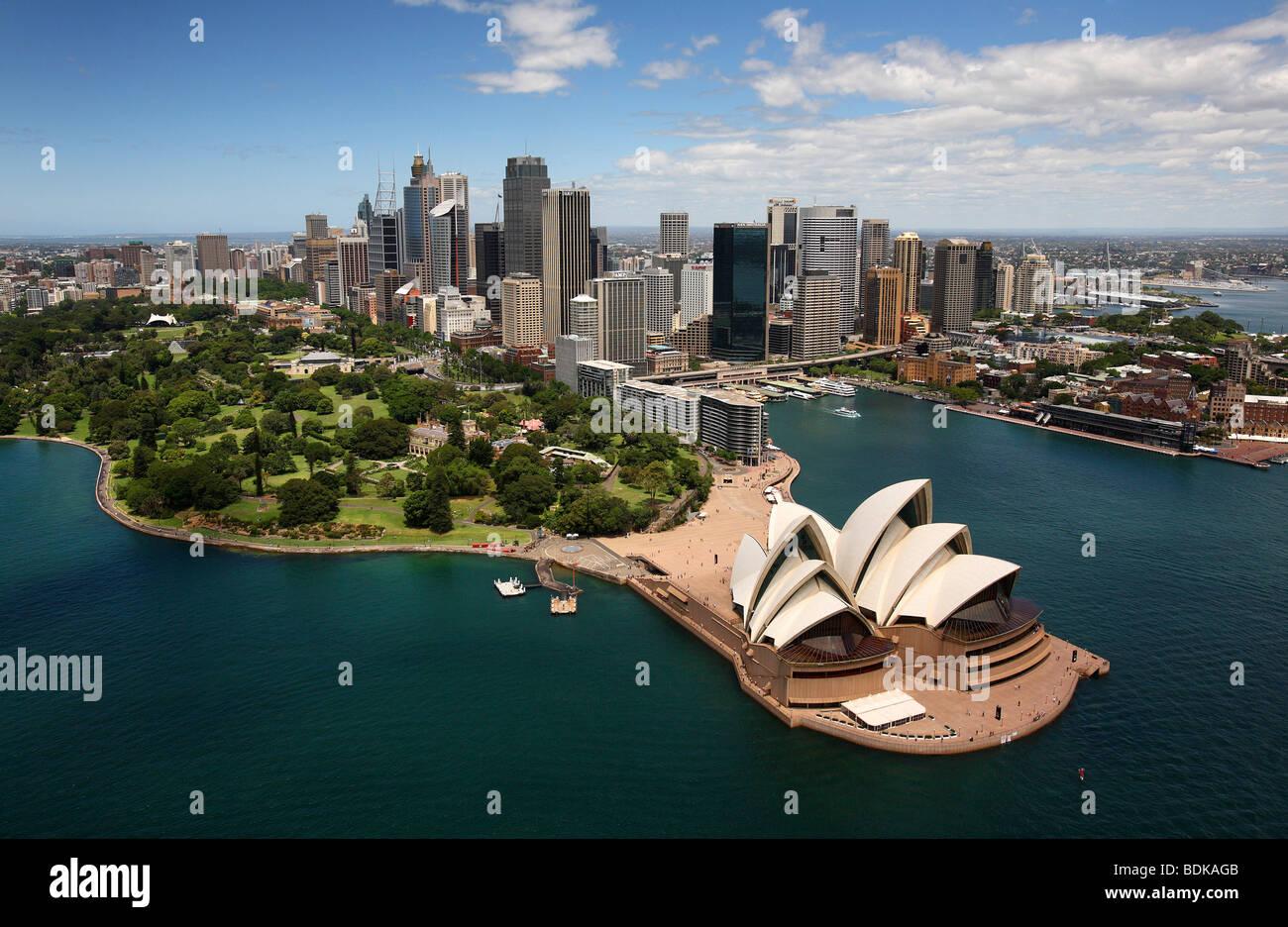 Il Porto di Sydney Australia antenna Immagini Stock