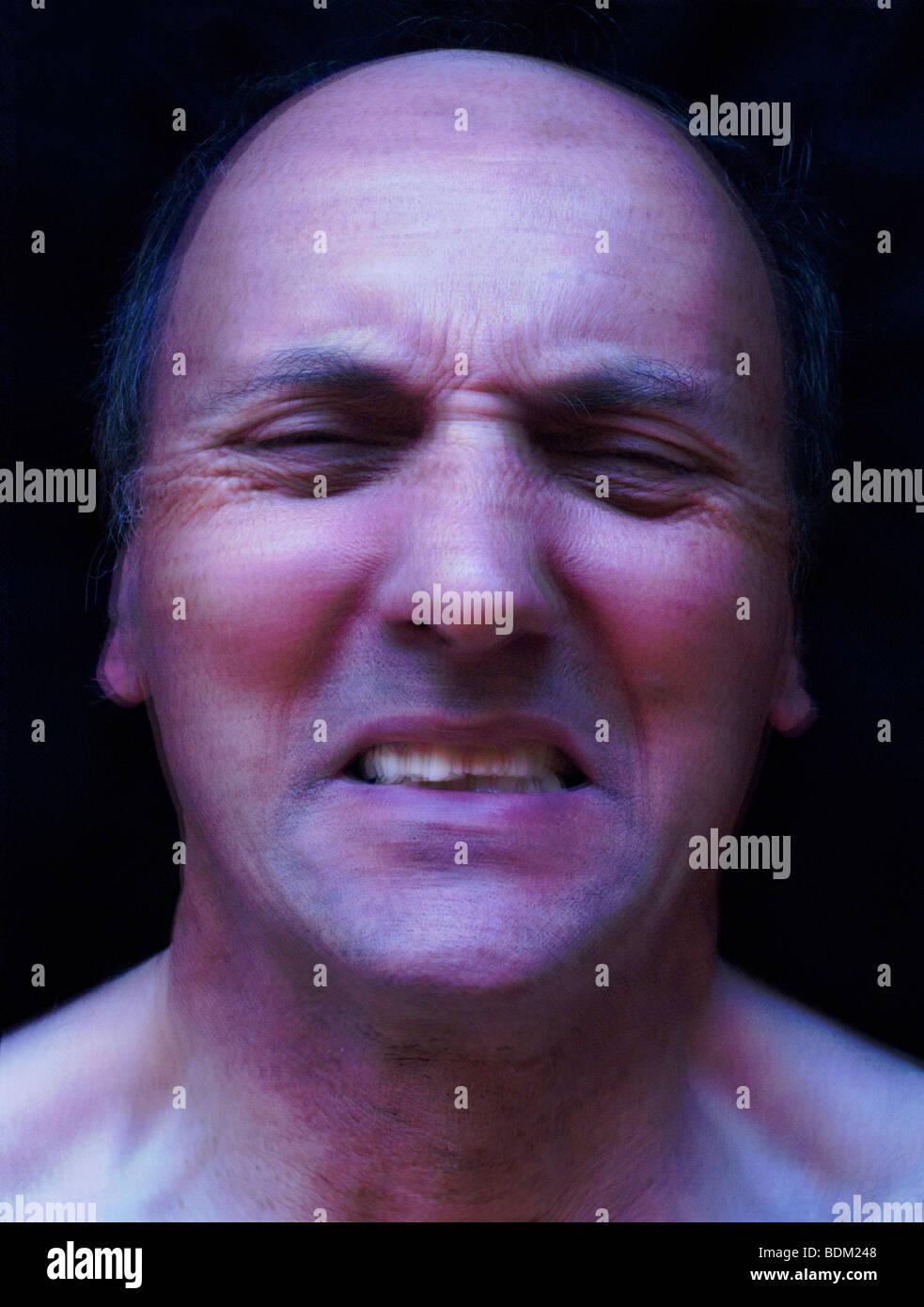 Stress, tensione, deformazione e depressione Immagini Stock