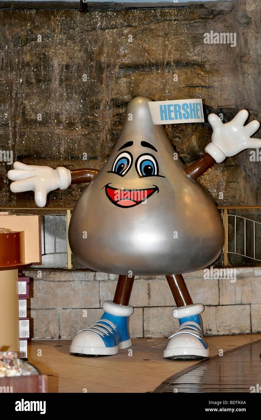 All'interno dell'Hershey Store la Hershey's carattere baci- Niagara Falls, Canada Immagini Stock