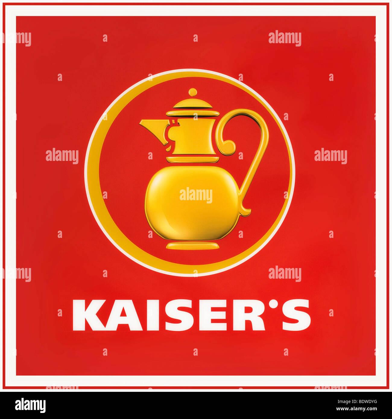 Kaiser logo, Kaiser La Tengelmann AG, retail market alimentare Immagini Stock