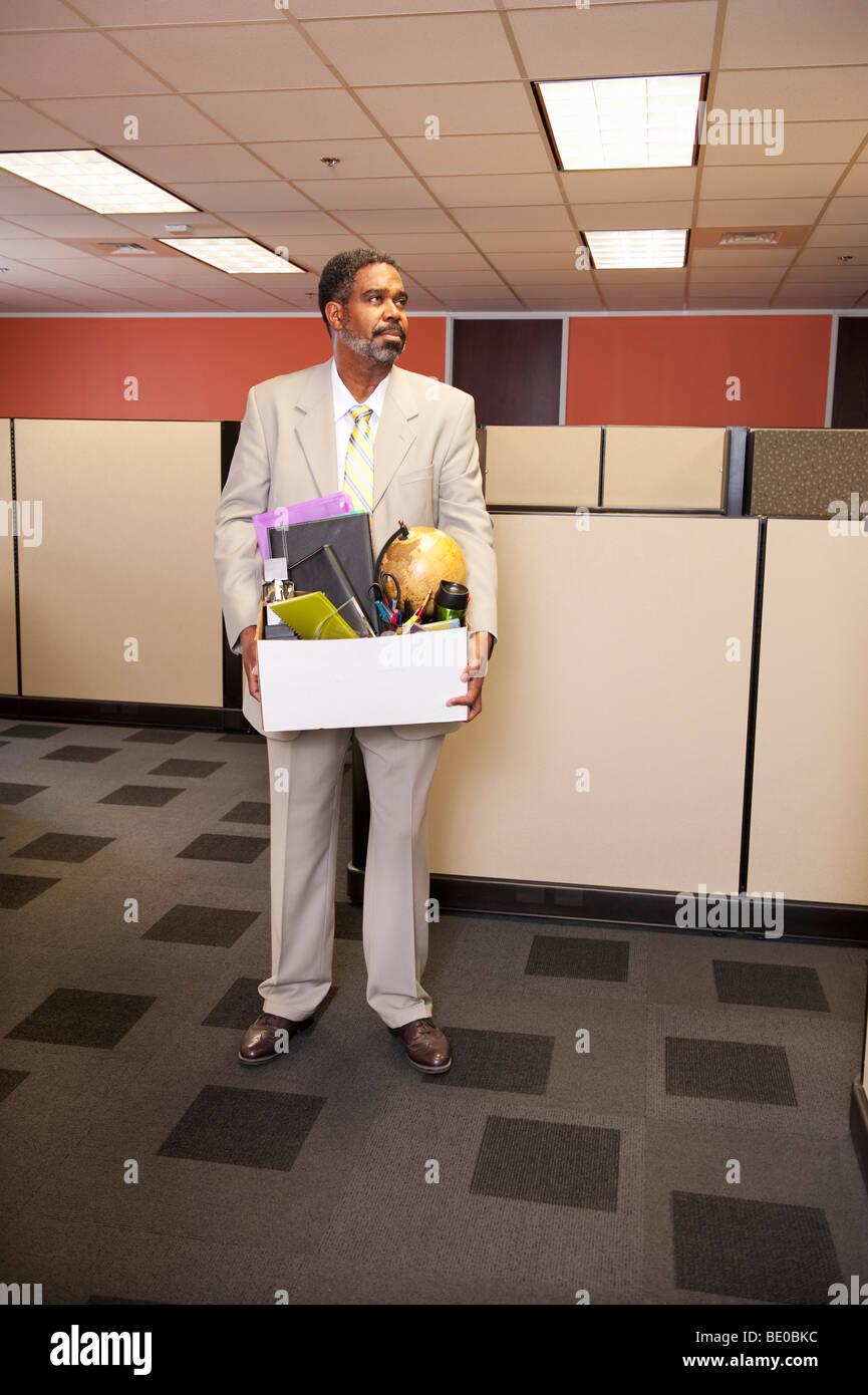 Fired Employee lasciando la carica Immagini Stock