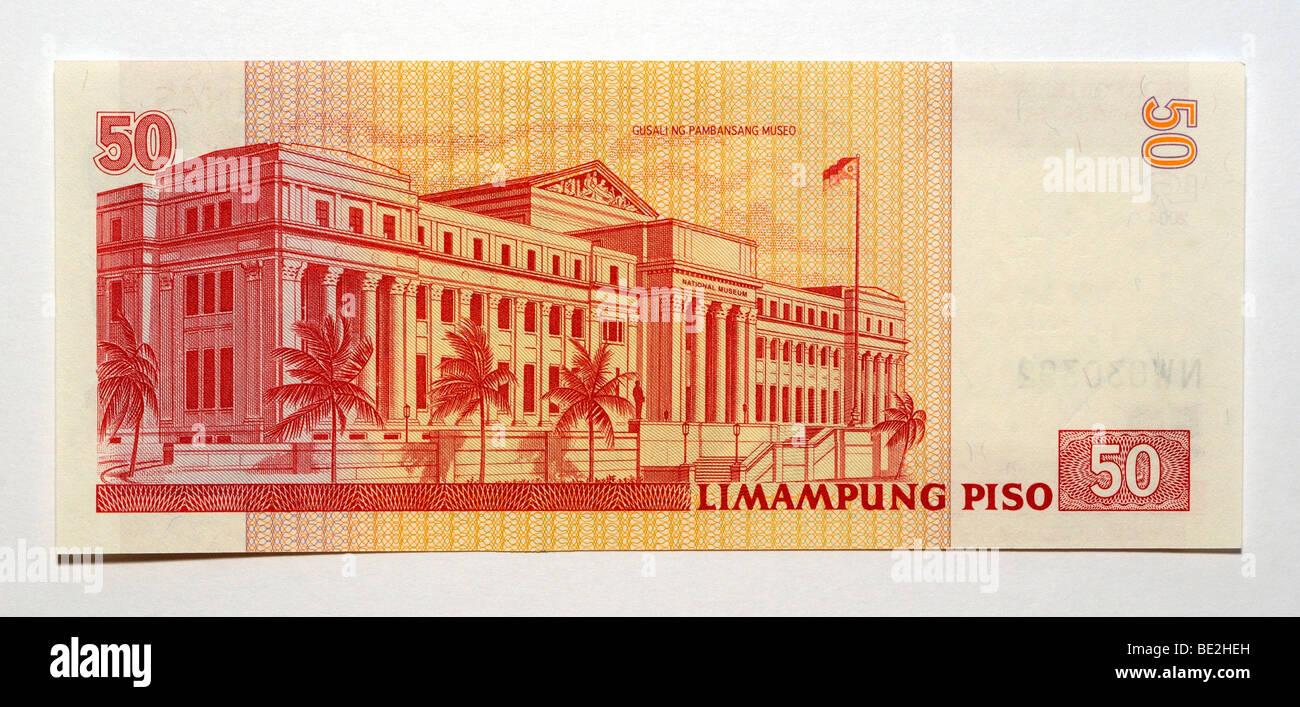 Filippine 50 cinquanta Piso Bank nota. Immagini Stock