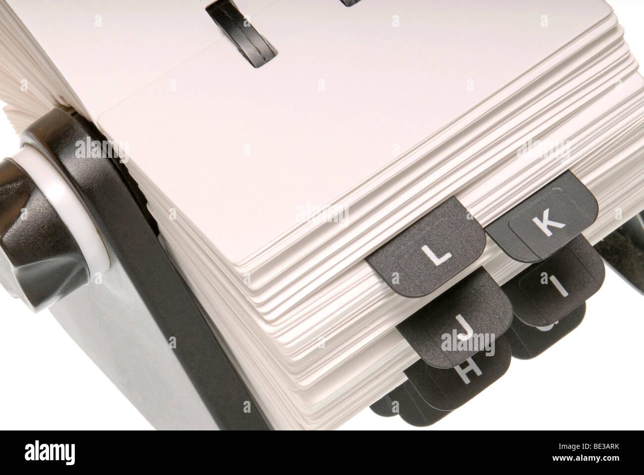 Telefono registro con un foglio vuoto Immagini Stock