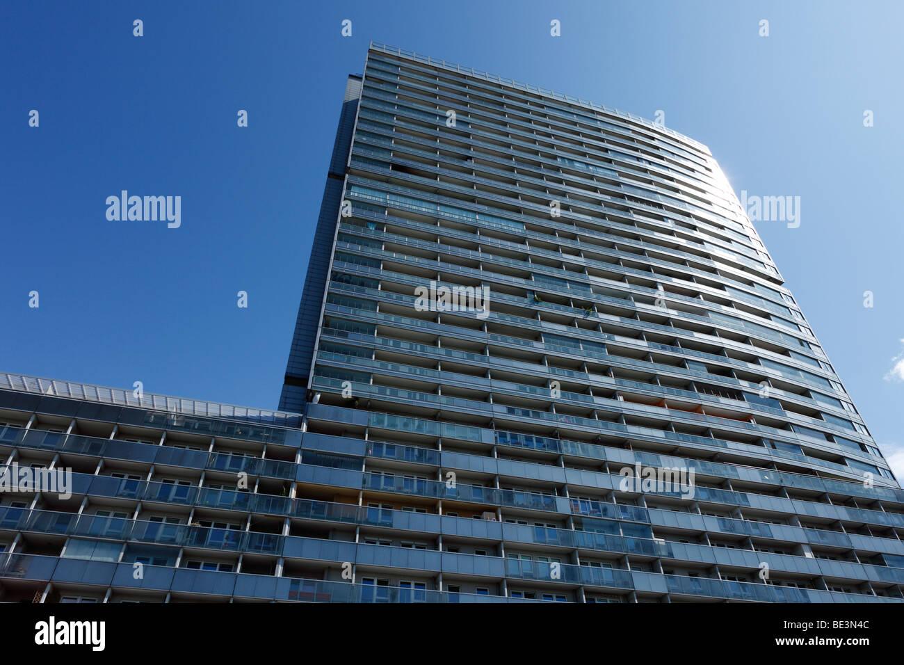 Mischek Tower, alto edificio residenziale, Donau City, Vienna, Austria, Europa Immagini Stock