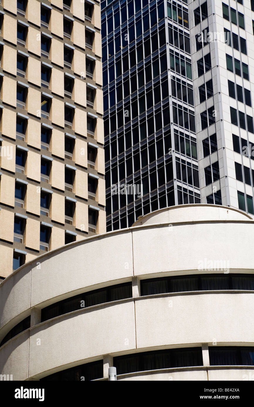 Architettura moderna a Sydney nel quartiere centrale degli affari. Sydney, Nuovo Galles del Sud, Australia Immagini Stock