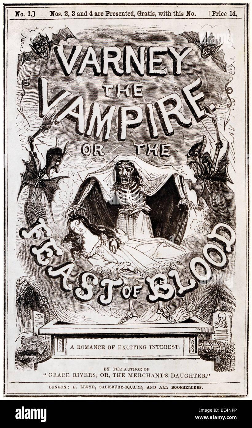 Varney il vampiro, 1847, o la festa del sangue, romanzo vittoriano di Thomas Prest pubblicata come partwork Immagini Stock