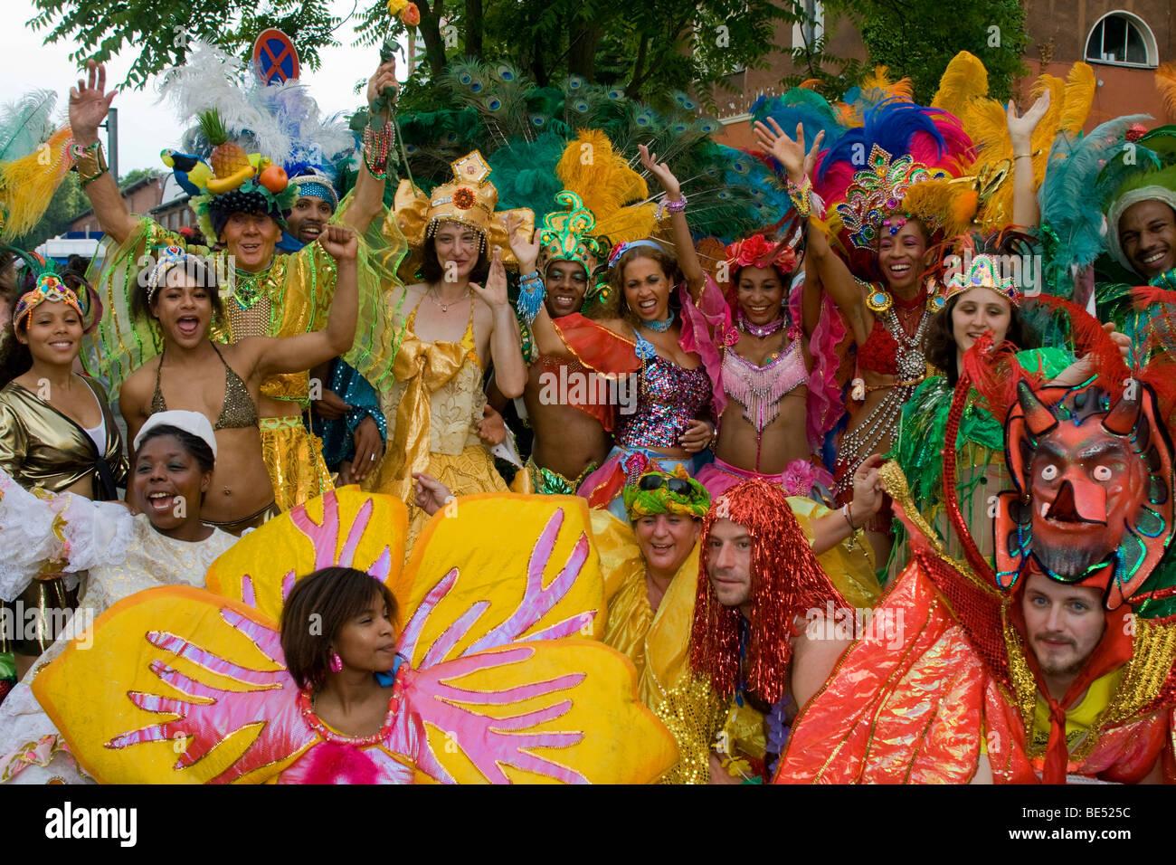 Gruppo Amasonia, il Carnevale delle culture 2009, Berlino, Germania, Europa Immagini Stock