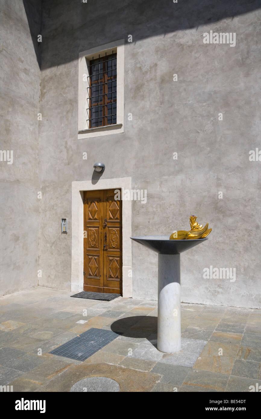Il riflesso del cielo, Roberto priod, Aosta, Valle d'Aosta, Valle d'Aosta, Italia, Europa Immagini Stock