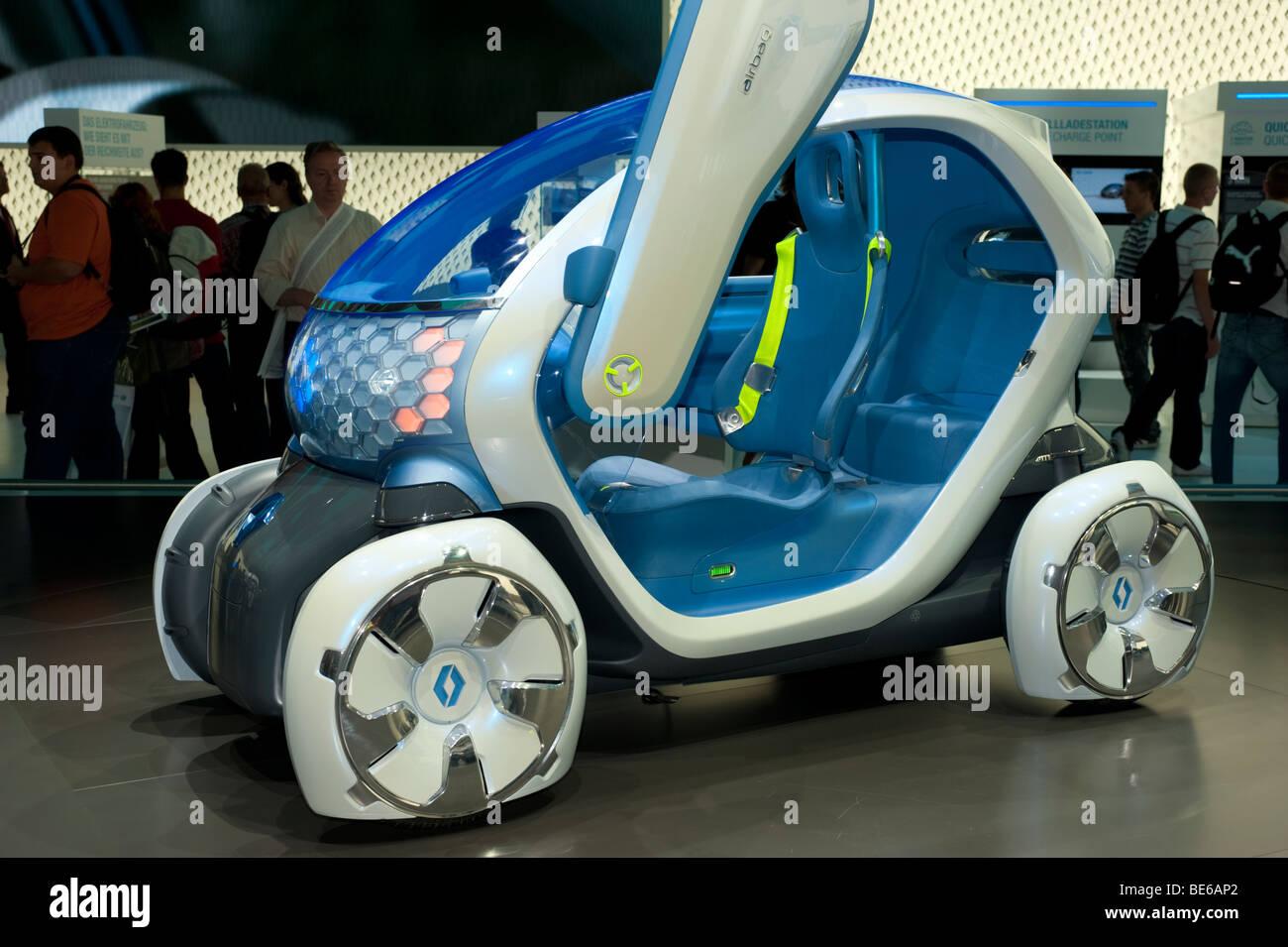Renault Twizy ZE concept car elettrica al Salone di Francoforte 2009 Immagini Stock