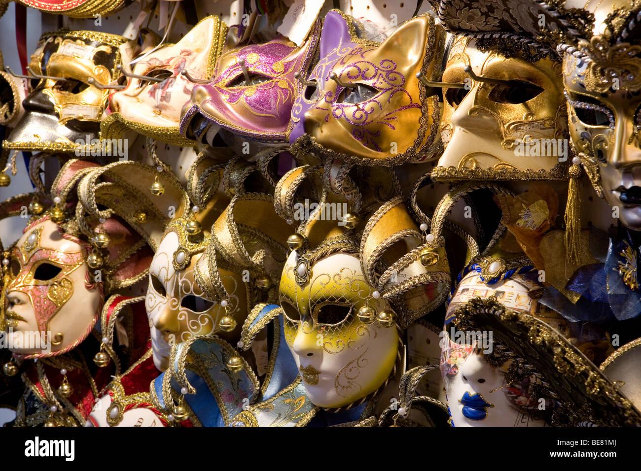 Dettaglio del carnevale veneziano Le Maschere, Venezia, Italia e Europa Foto Stock