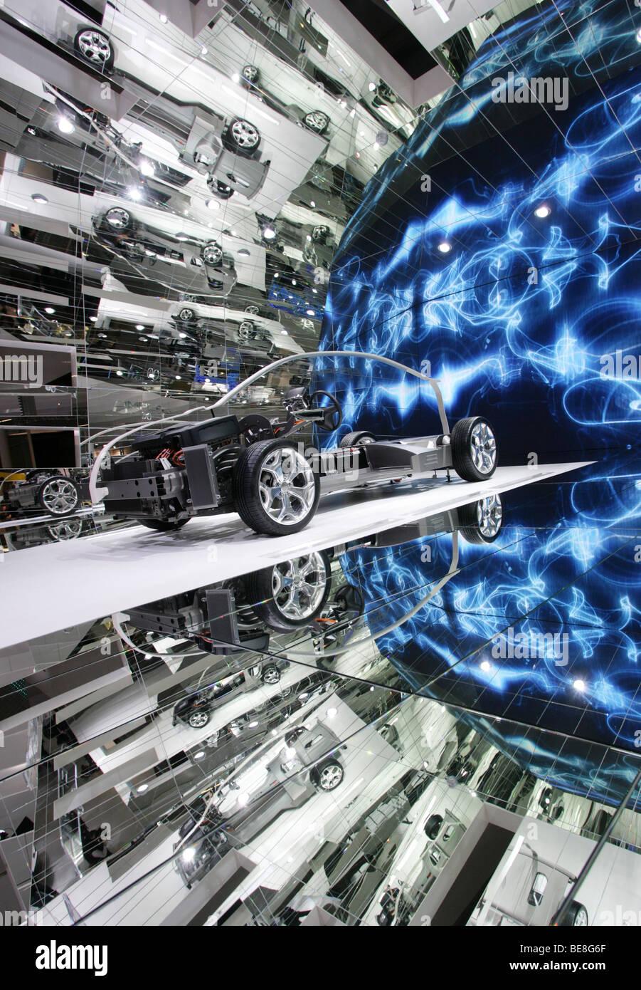 Auto elettrica Opel Ampera al 63. IAA Motor Show di Francoforte/Germania, 15.9.2009 Immagini Stock