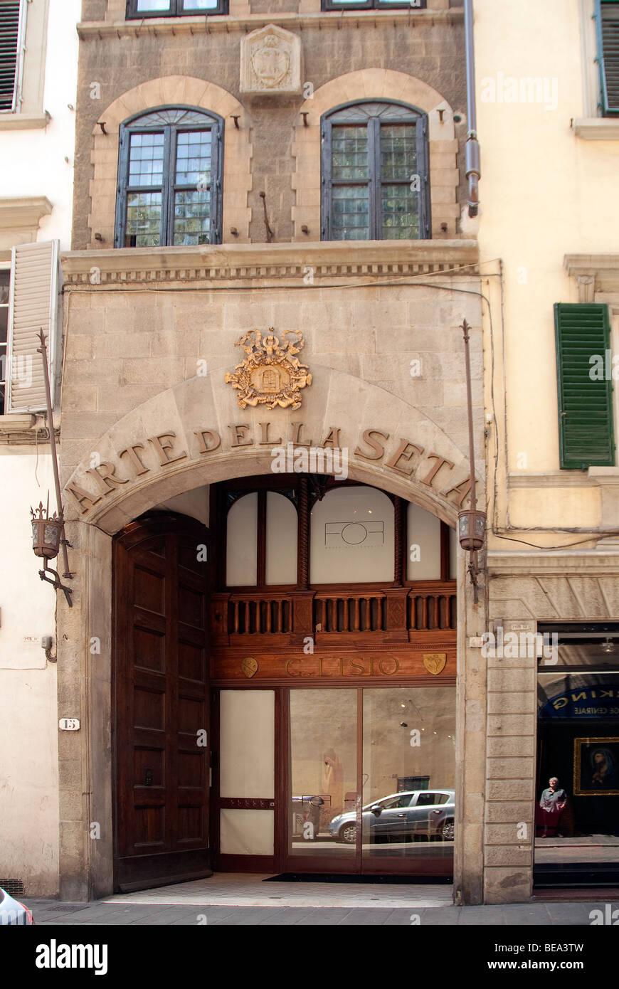 Arte della Seta (seta lavoratori guild) edificio, ora una galleria d'arte contemporanea in Via dei Fossi, Firenze Immagini Stock