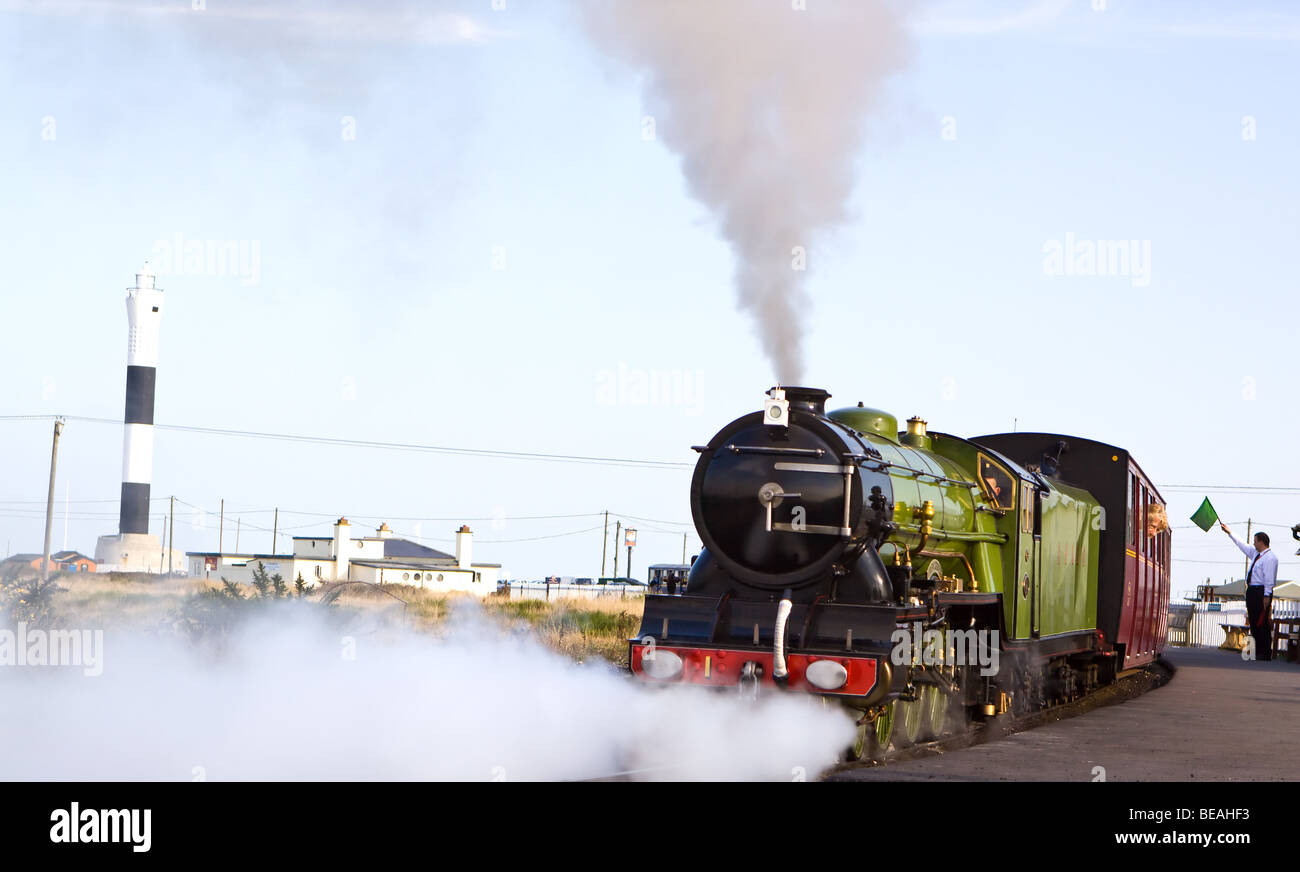 Dea verde n. motore 1 Sul Romney Hythe e Dymchurch Railway a Dungeness Immagini Stock