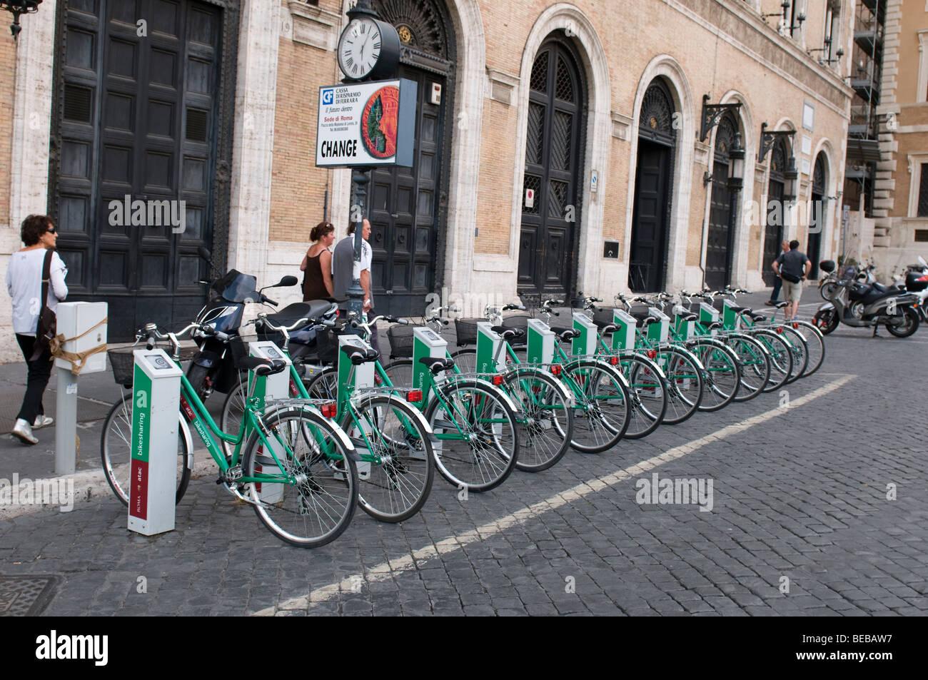 Roma Atac Bikesharing sistema. Immagini Stock