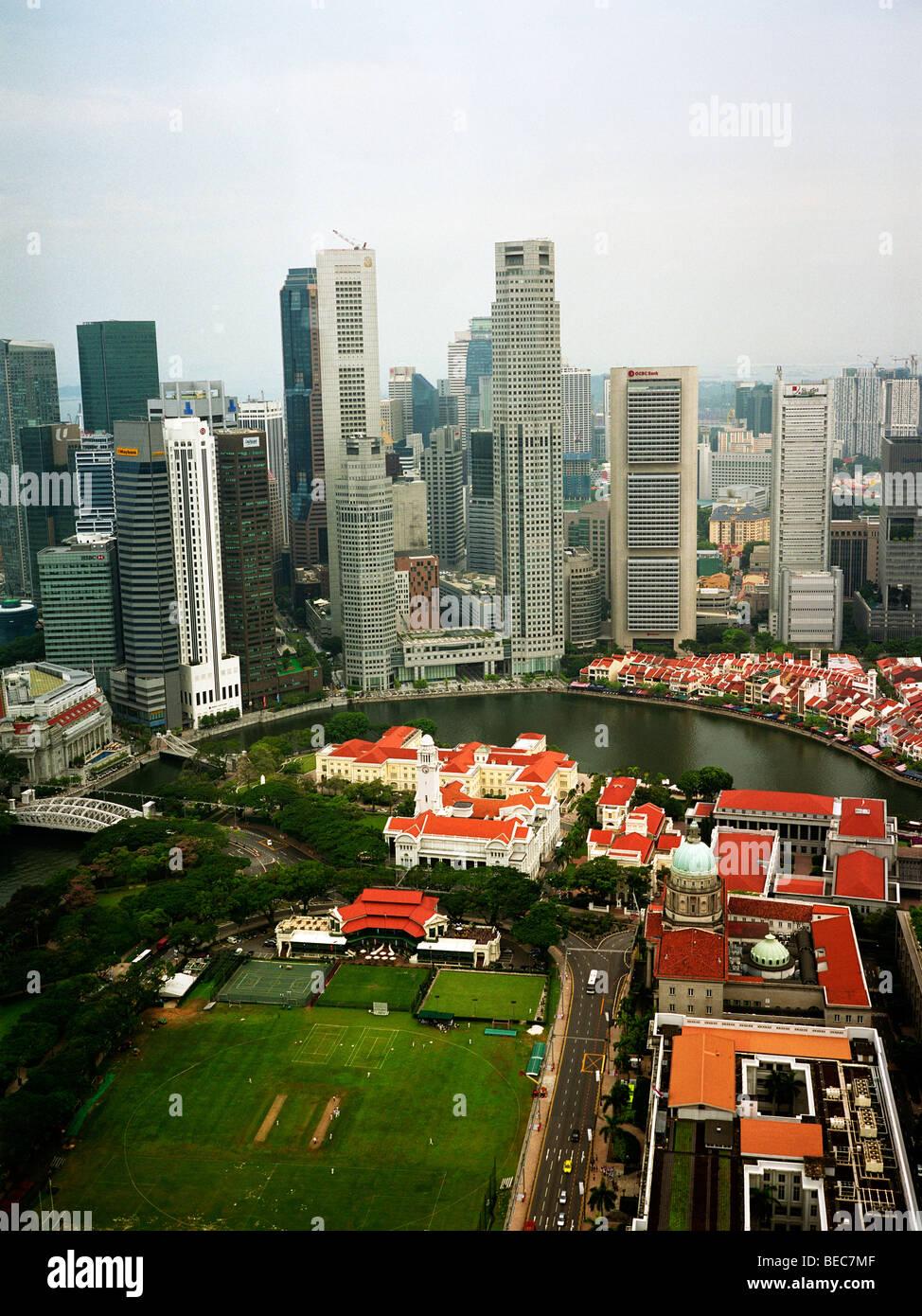 Singapore: Clark Quay e del distretto finanziario Immagini Stock