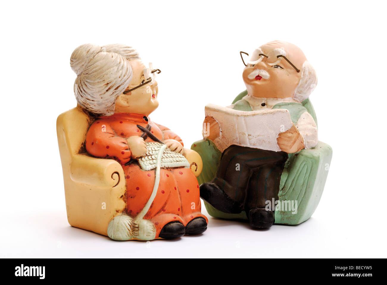 Nonno In Poltrona.Le Figure In Miniatura Dei Pensionati Mia Nonna E Mio Nonno