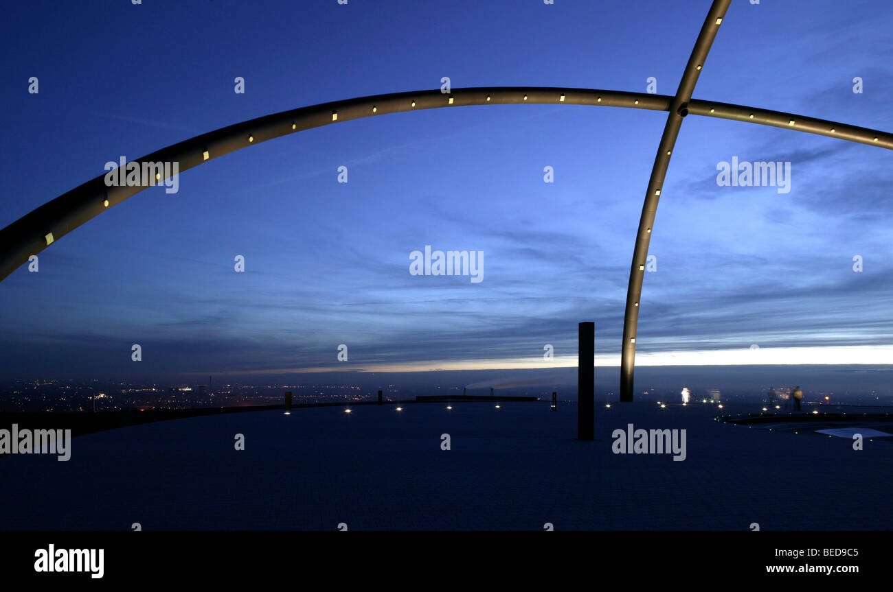 Horizontobservatorium, osservatorio sulle scorie hoheward heap, Herten, la zona della Ruhr, RENANIA DEL NORD-VESTFALIA, Immagini Stock