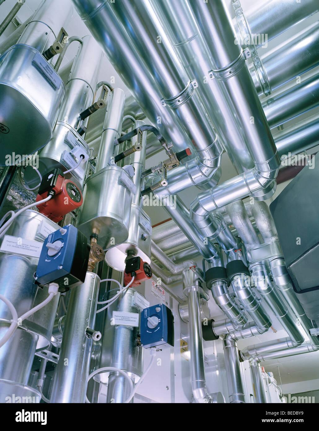 La tecnologia per il riscaldamento e la ventilazione engineering Immagini Stock