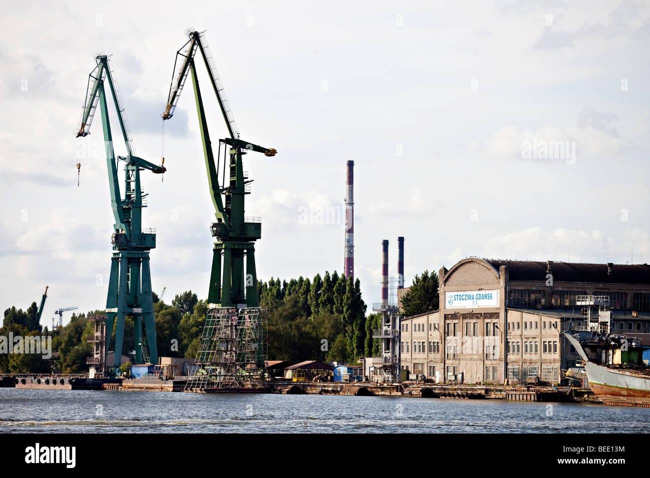 Il leggendario Cantiere di Danzica, in cui la solidarietà dei sindacati liberi il movimento iniziato, Gdansk, Immagini Stock
