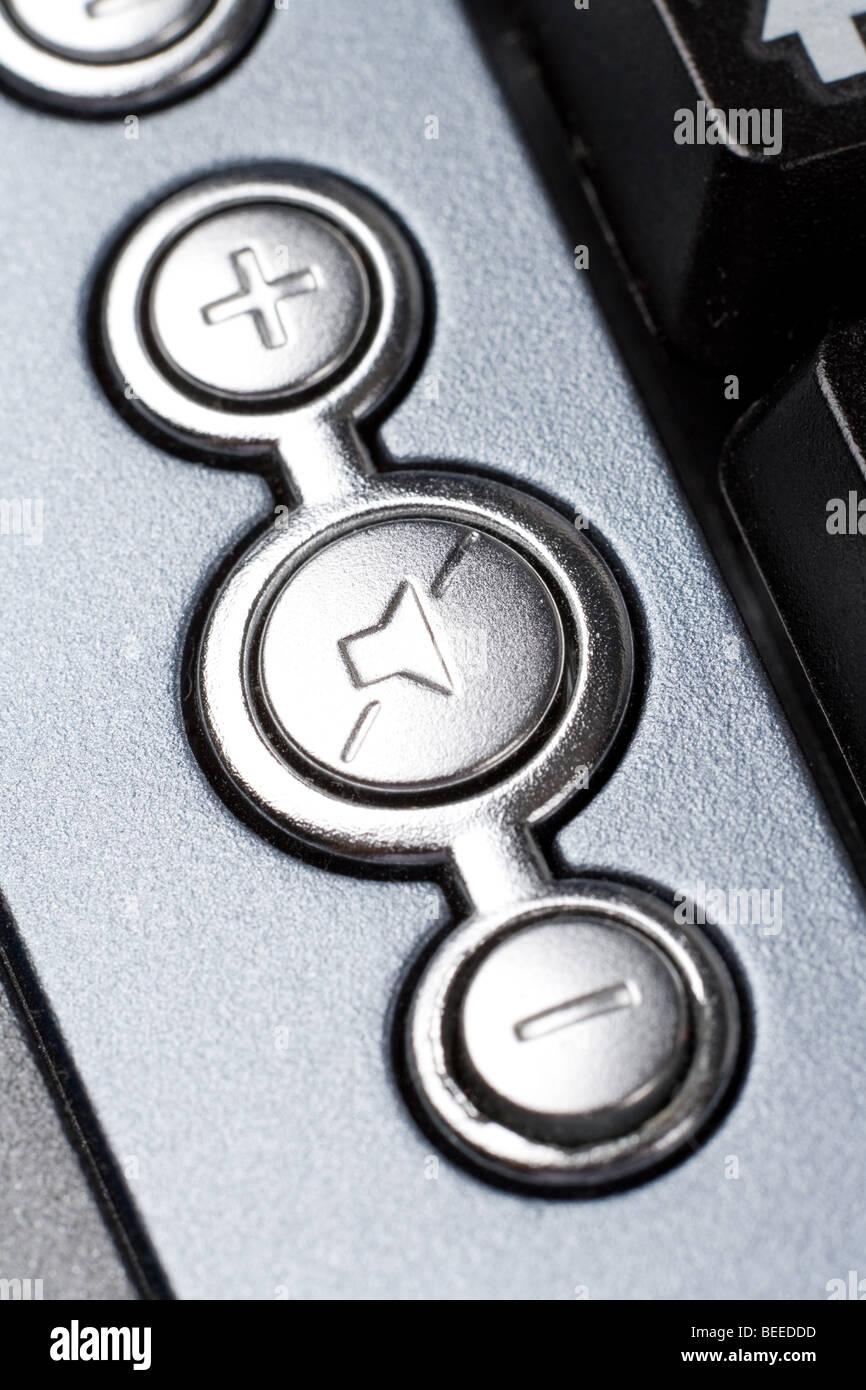 Il controllo del volume dell'altoparlante per chiudere a chiave up shot Immagini Stock