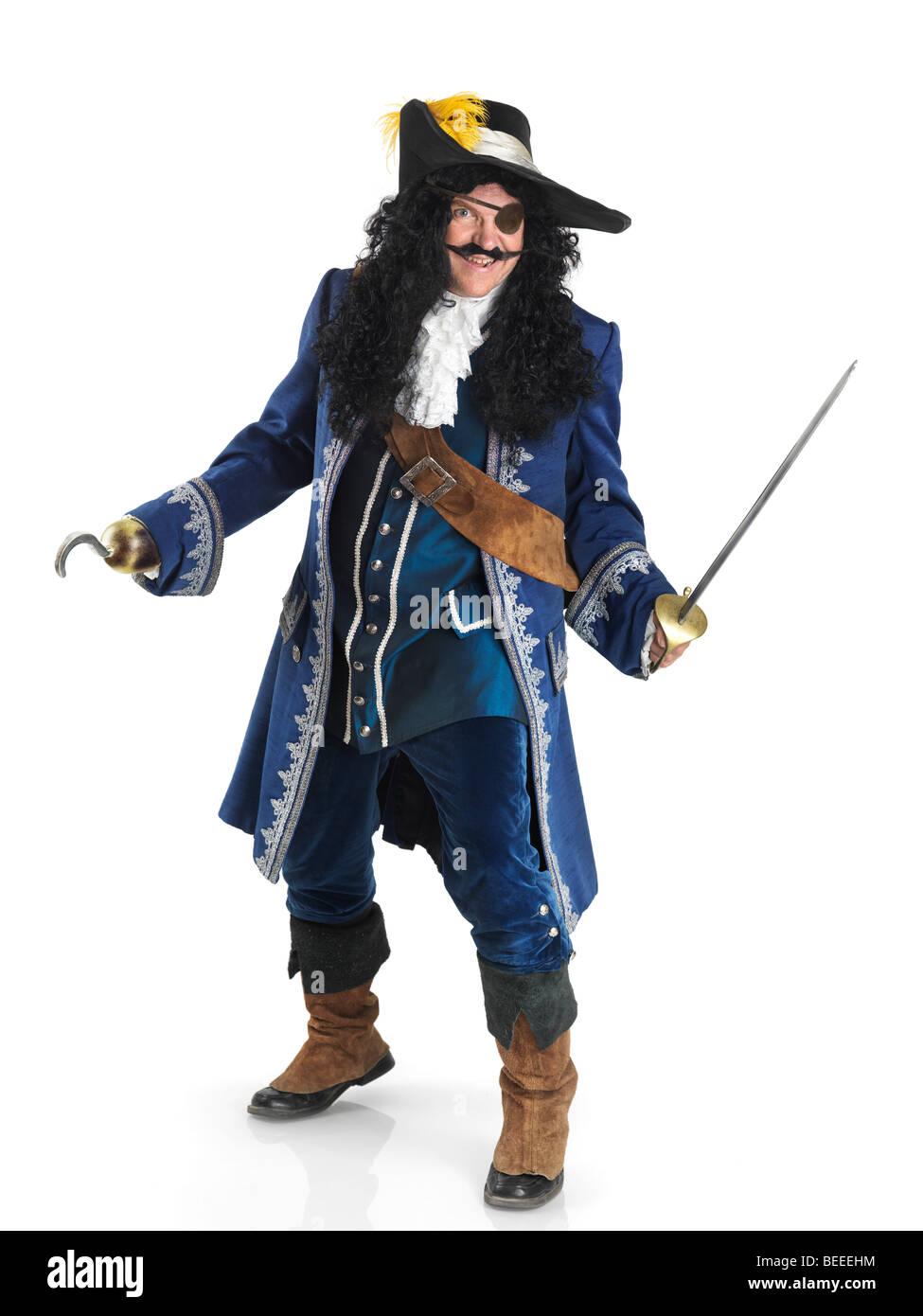 PIRATA CAPPELLO PISTOLA e spada Costume Musket swashbuckle Ragazzi Costume