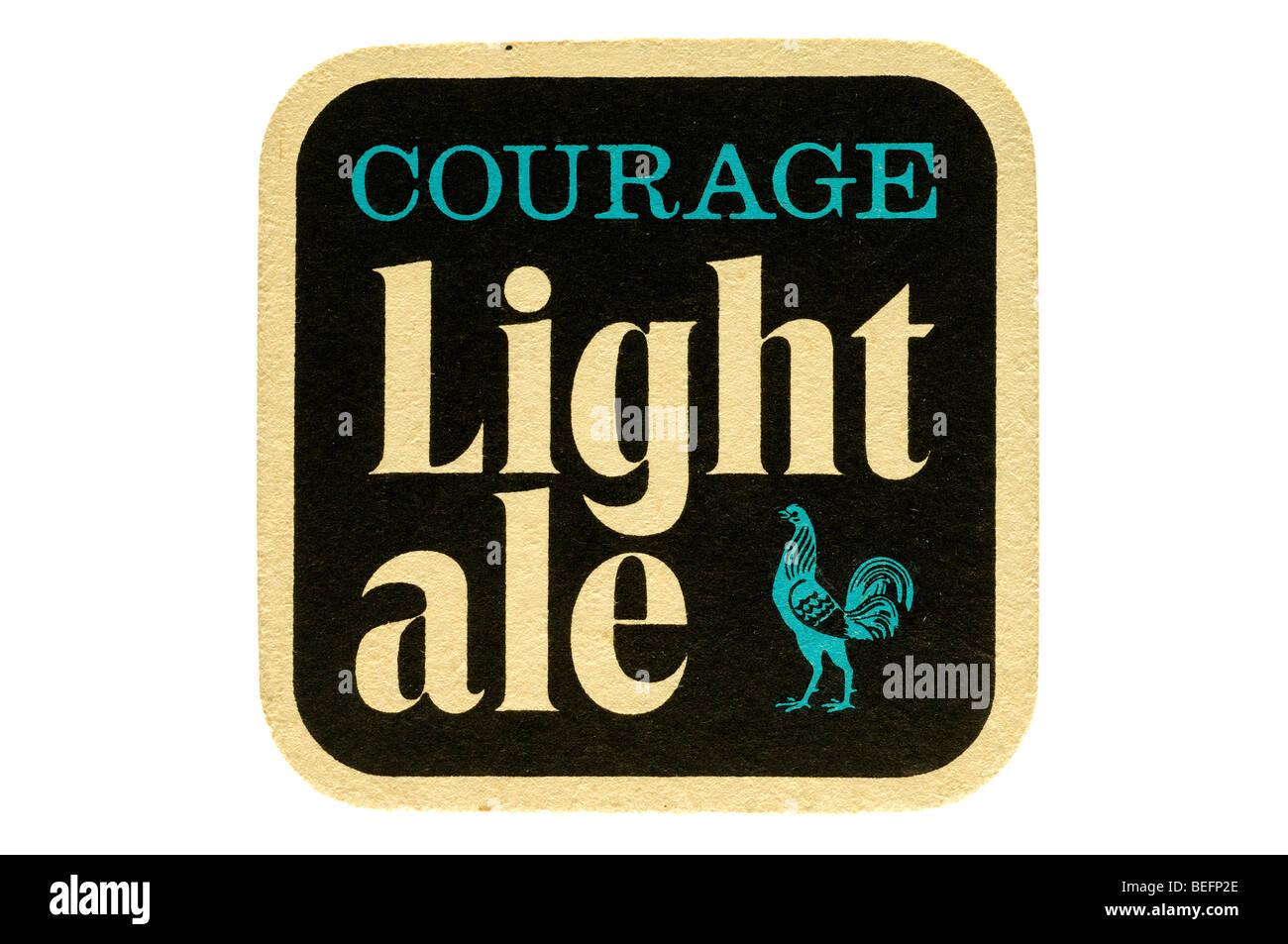 Il coraggio di birra chiara Immagini Stock