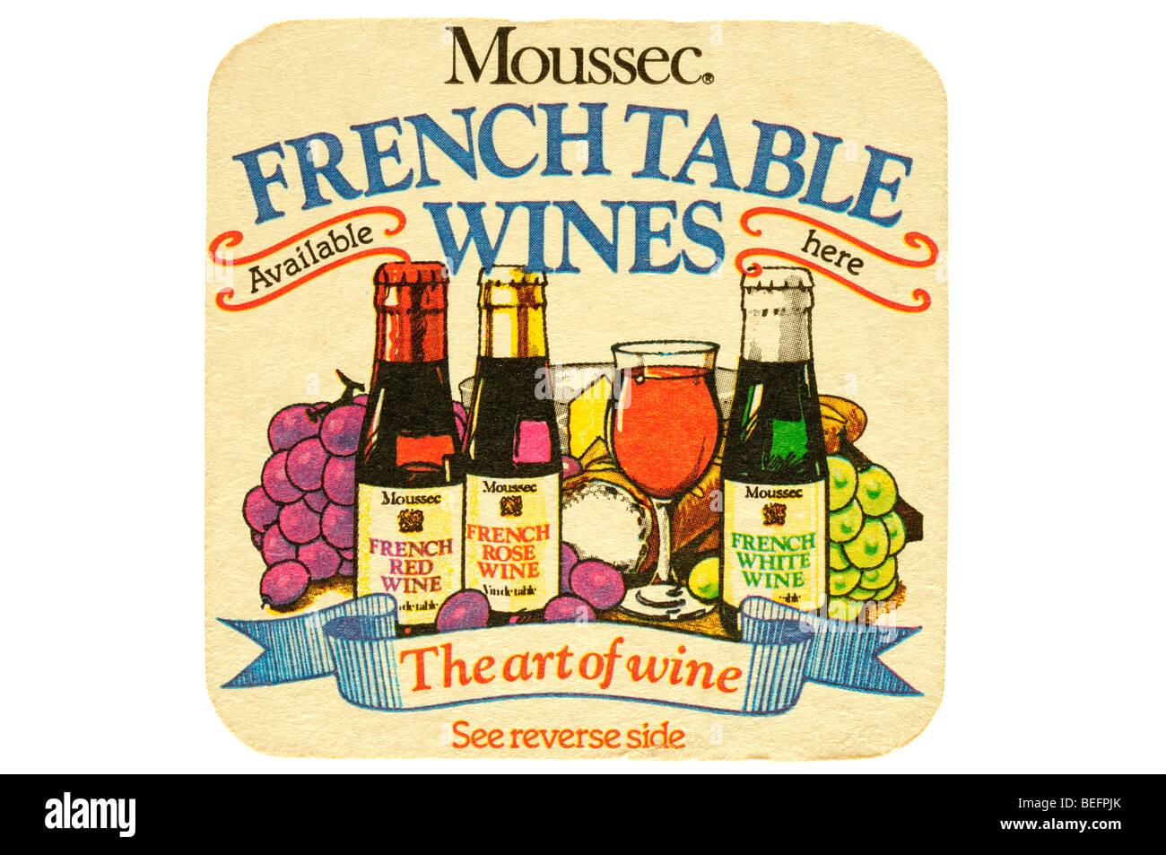 Moussec vini francesi disponibili qui l'arte del vino Immagini Stock