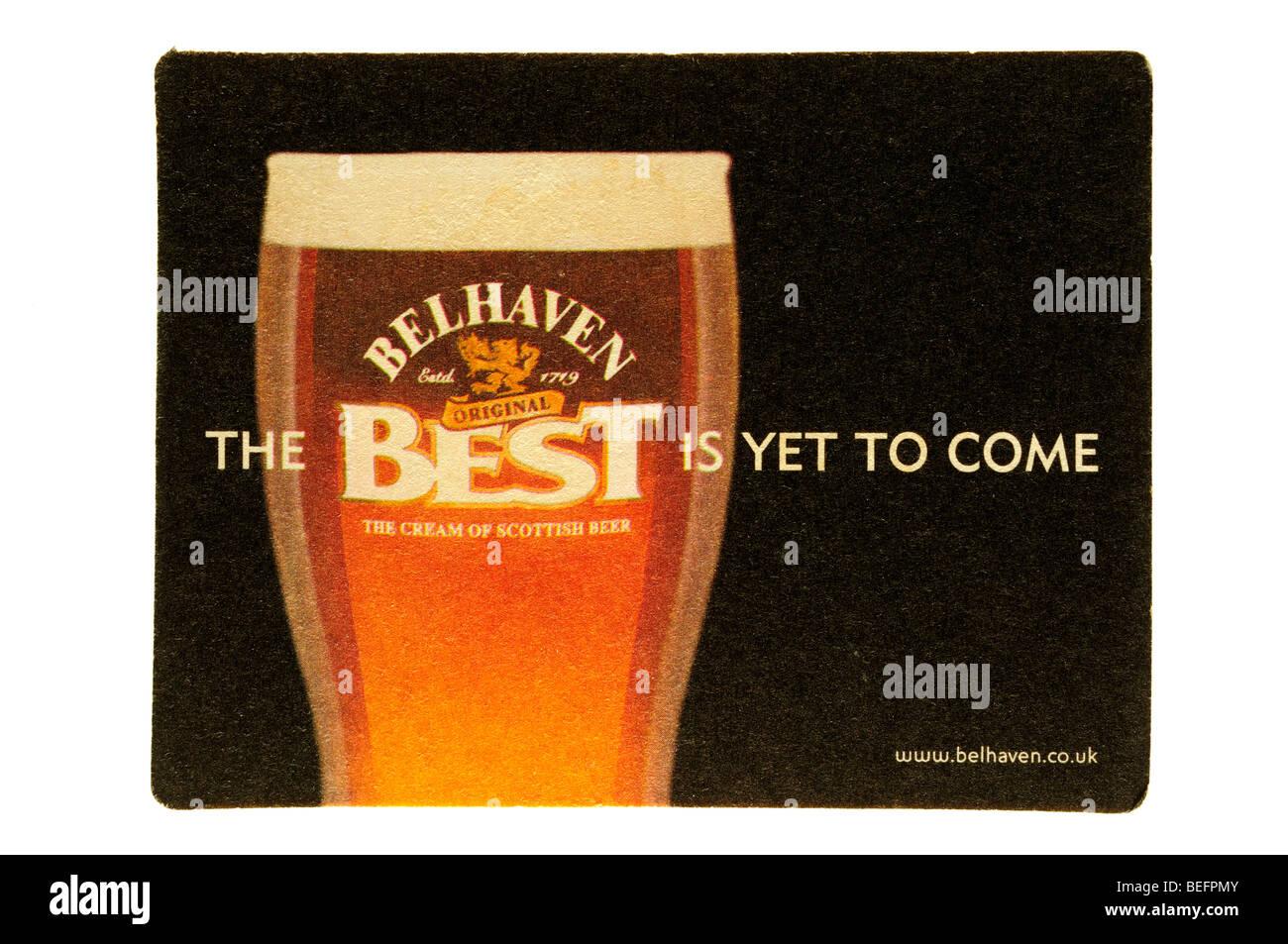 Il meglio deve ancora venire belhaven la crema di birra Scozzese Immagini Stock