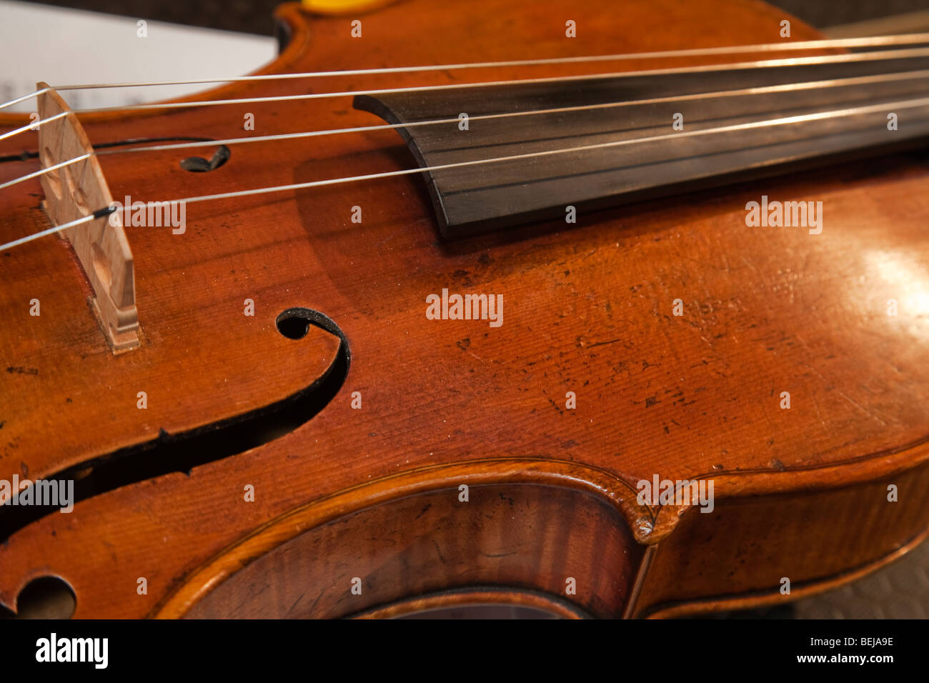 Strumenti musicali violino Immagini Stock