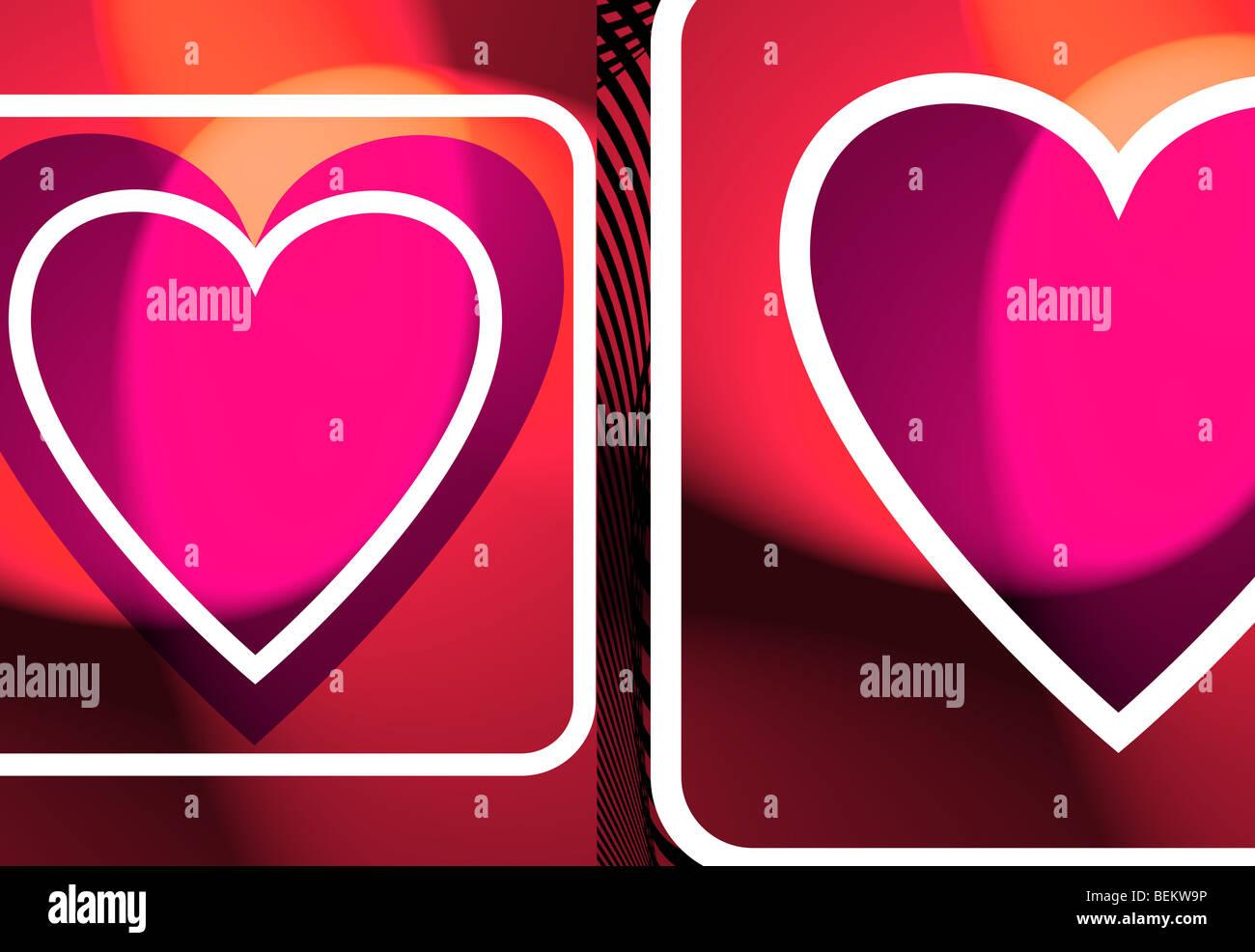 Illustrazione del cuore colorati Immagini Stock
