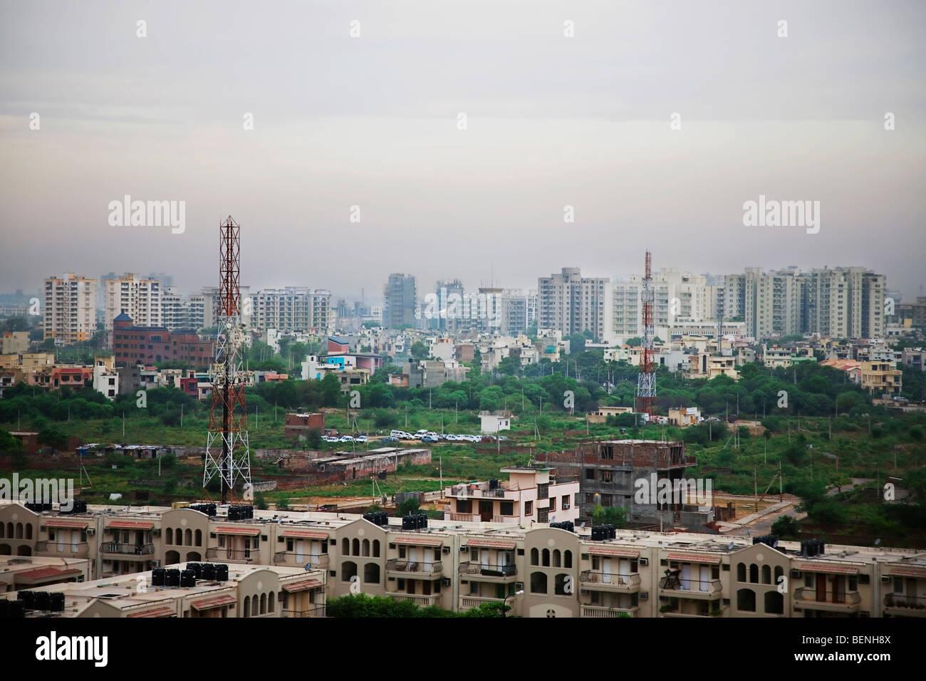 Sviluppo immobiliare a Gurgaon Haryana India Immagini Stock