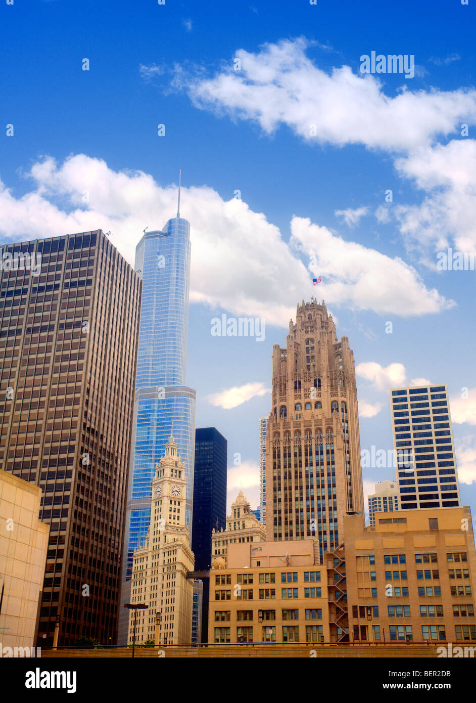 Il centro di Chicago Immagini Stock