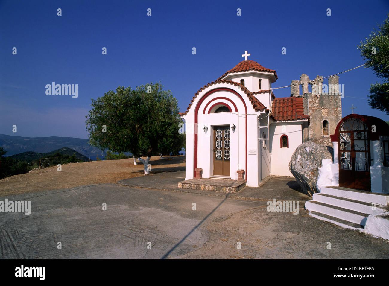 Grecia Isole Ionie, Cefalonia, monastero di theotokou agrilion vicino sami Immagini Stock