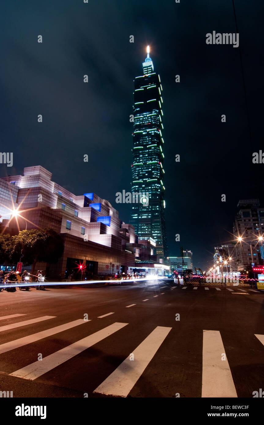 Taipei centro finanziario, Taipei 101, Taipeh, Taiwan Immagini Stock