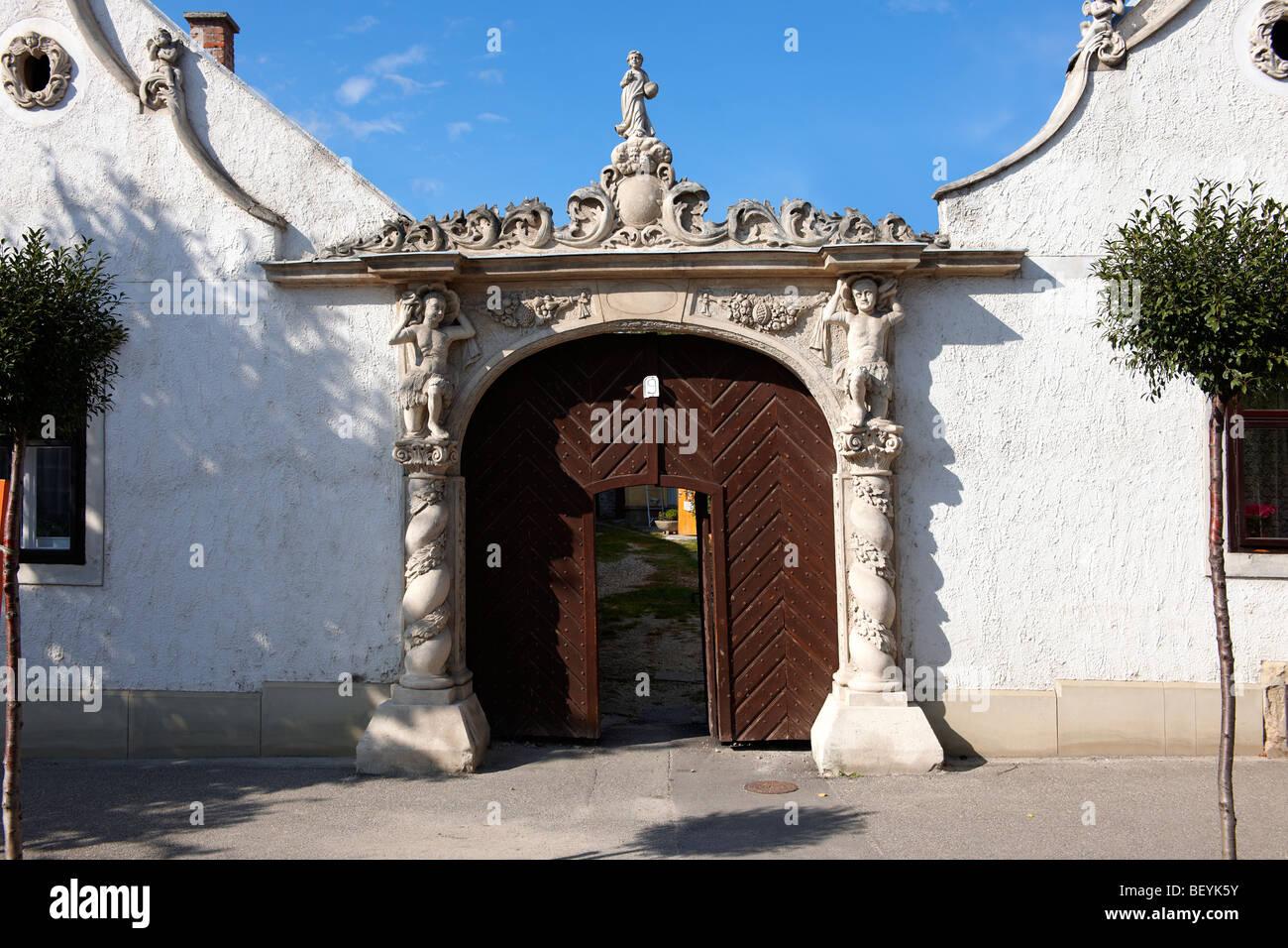 I due mori Casa (K t m r h z). Rustica architettura barocca - Sopron, Ungheria Immagini Stock