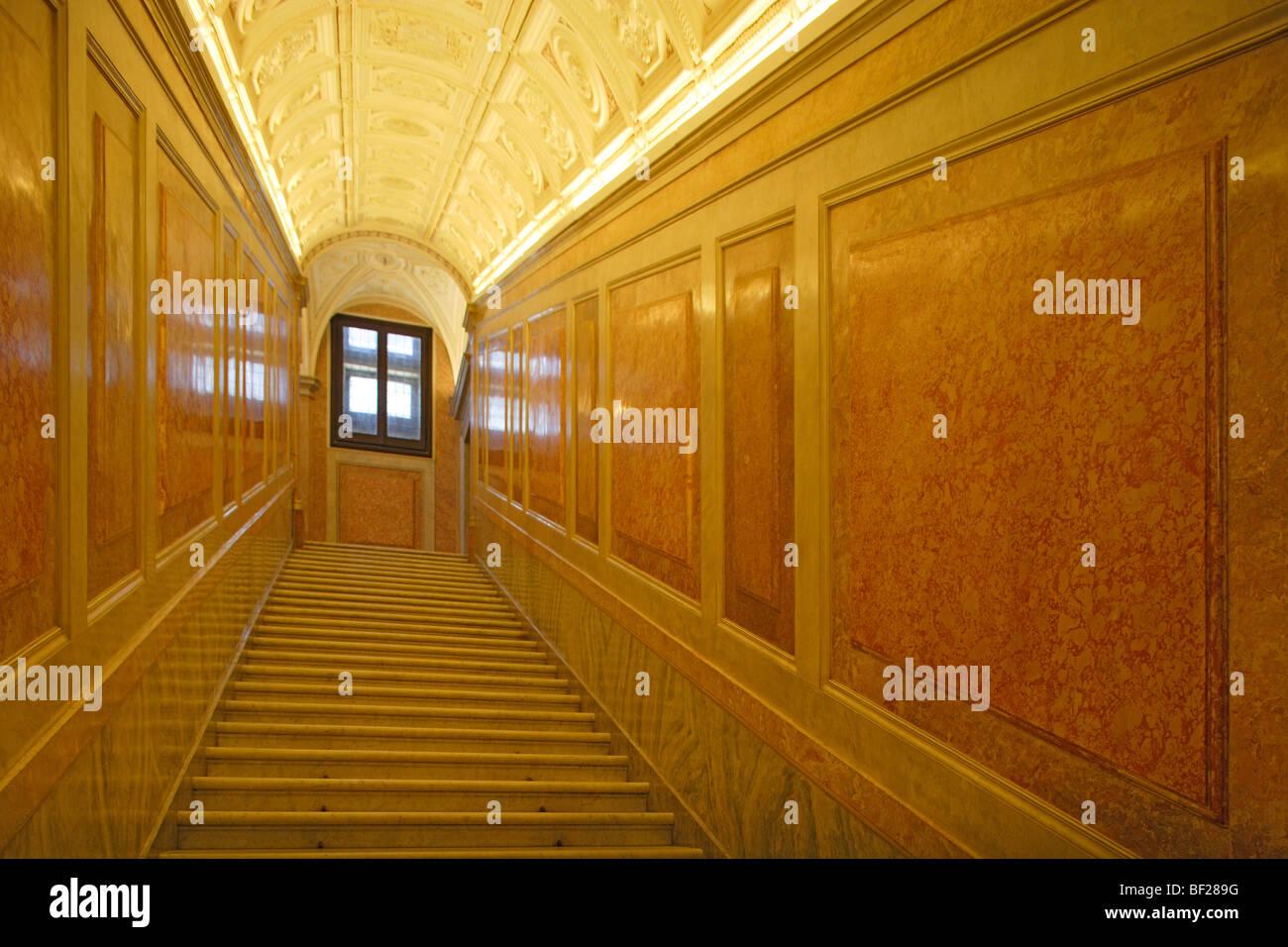 Scale deserte a Villa Farnesina, Roma, Italia, Europa Immagini Stock